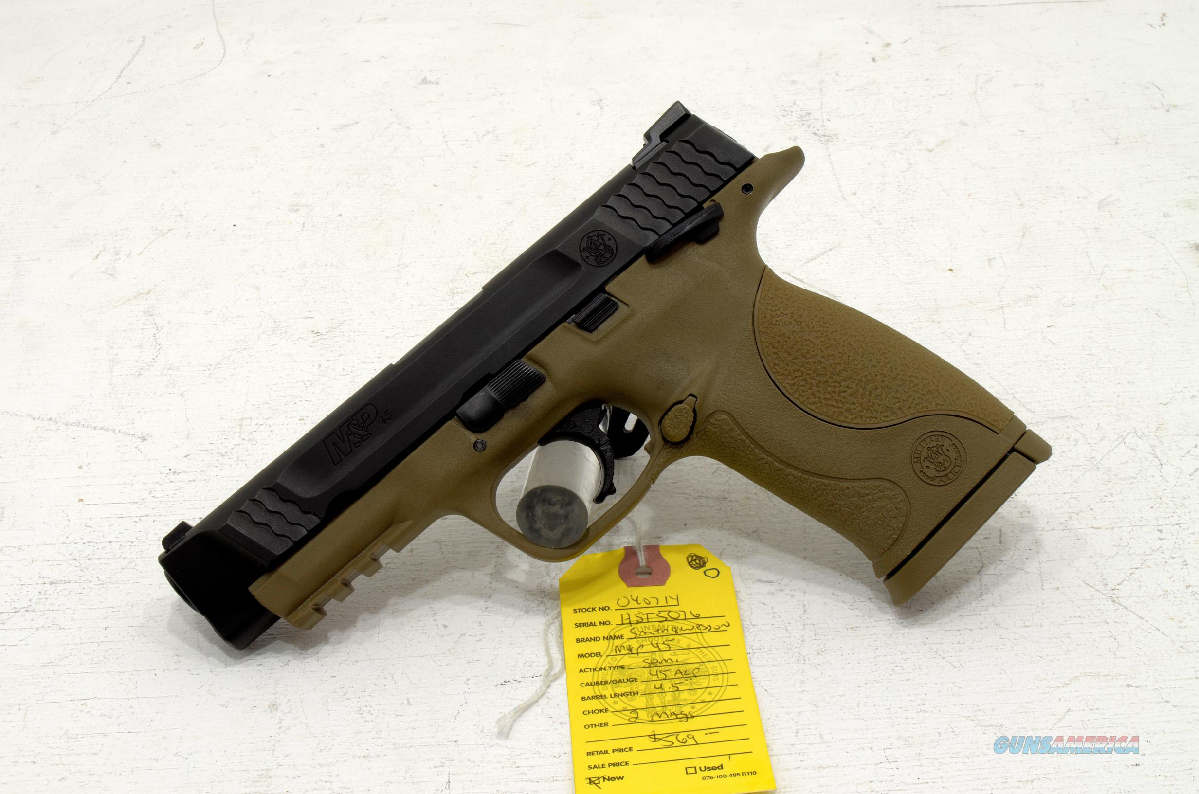 NEW SMITH & WESSON M&P45 FDE .45ACP  Guns > Pistols > Smith & Wesson Pistols - Autos > Polymer Frame