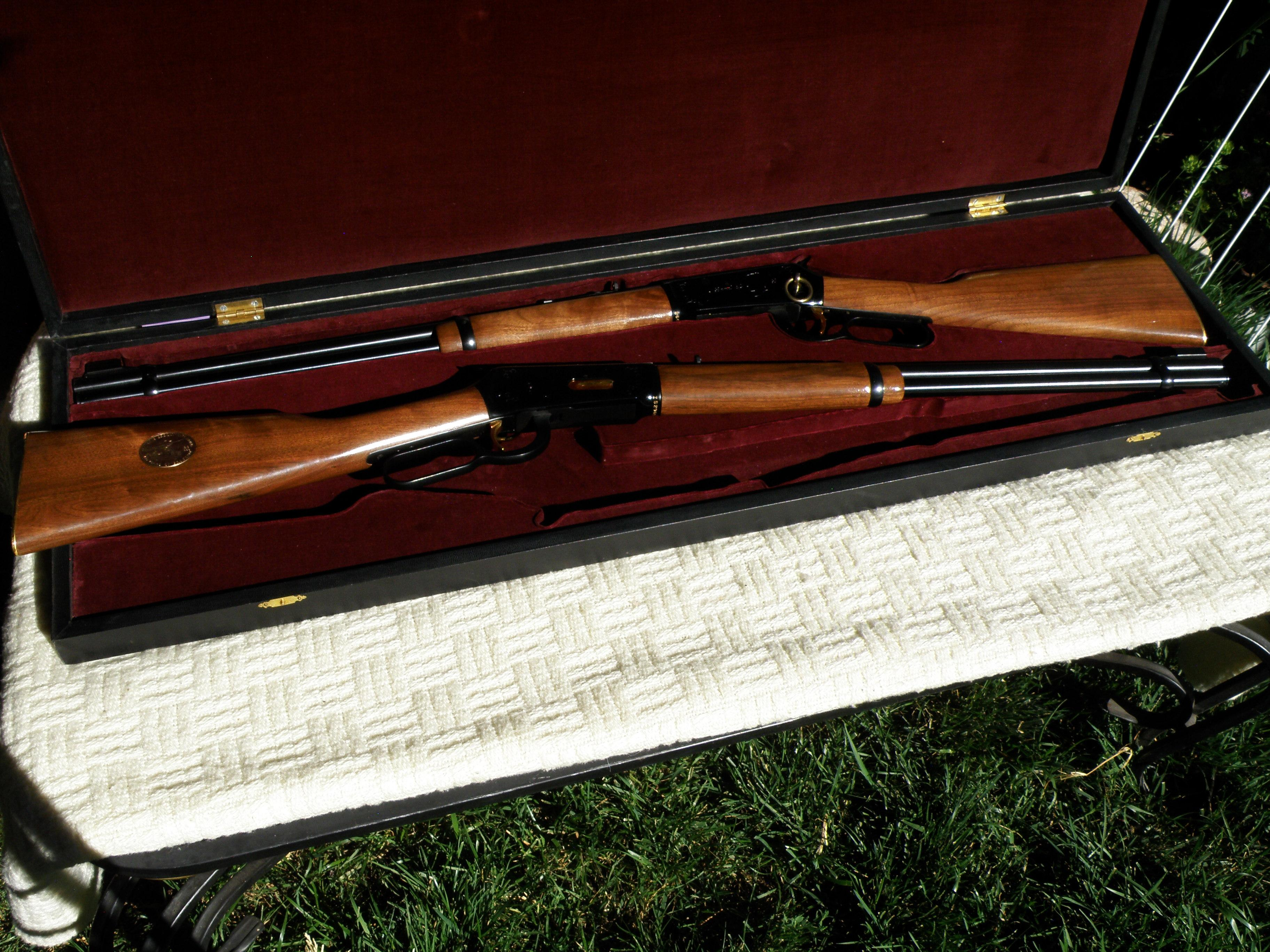 SET IN DOUBLE-GUN CASE- 1968 Illinois Sesquicentennial Model 94 Carbines   Guns > Rifles > Winchester Rifle Commemoratives