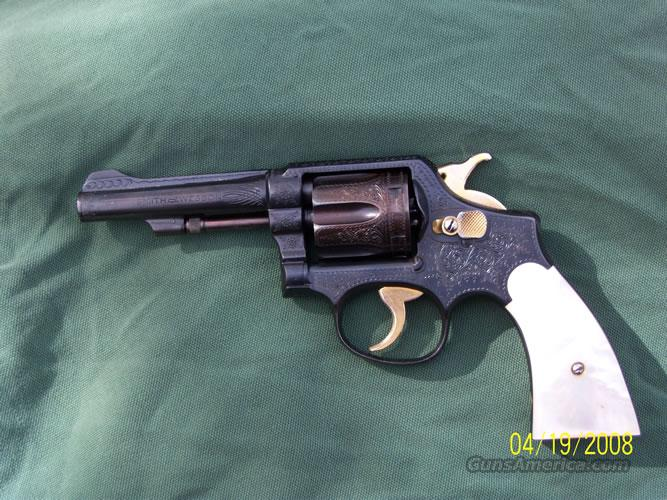 SMITH AND WESSON ENGRAVED 38 SPECIAL  Guns > Pistols > Smith & Wesson Revolvers > Pre-1945