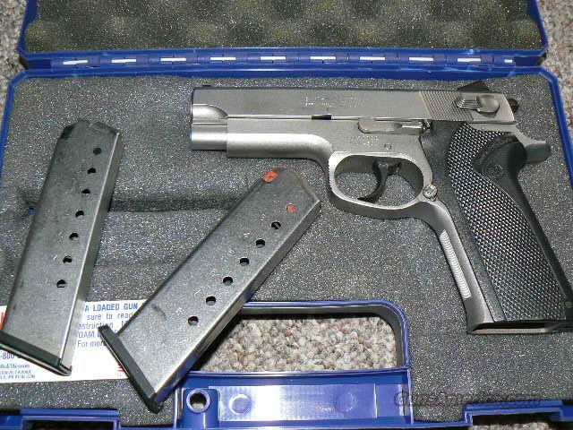 Smith and Wesson 4566 45 ACP Double Single Action USED in Box with 2 8 Round Mags! STS Frame and Slide! This Gun can SHOOT...  Guns > Pistols > Smith & Wesson Pistols - Autos > Steel Frame