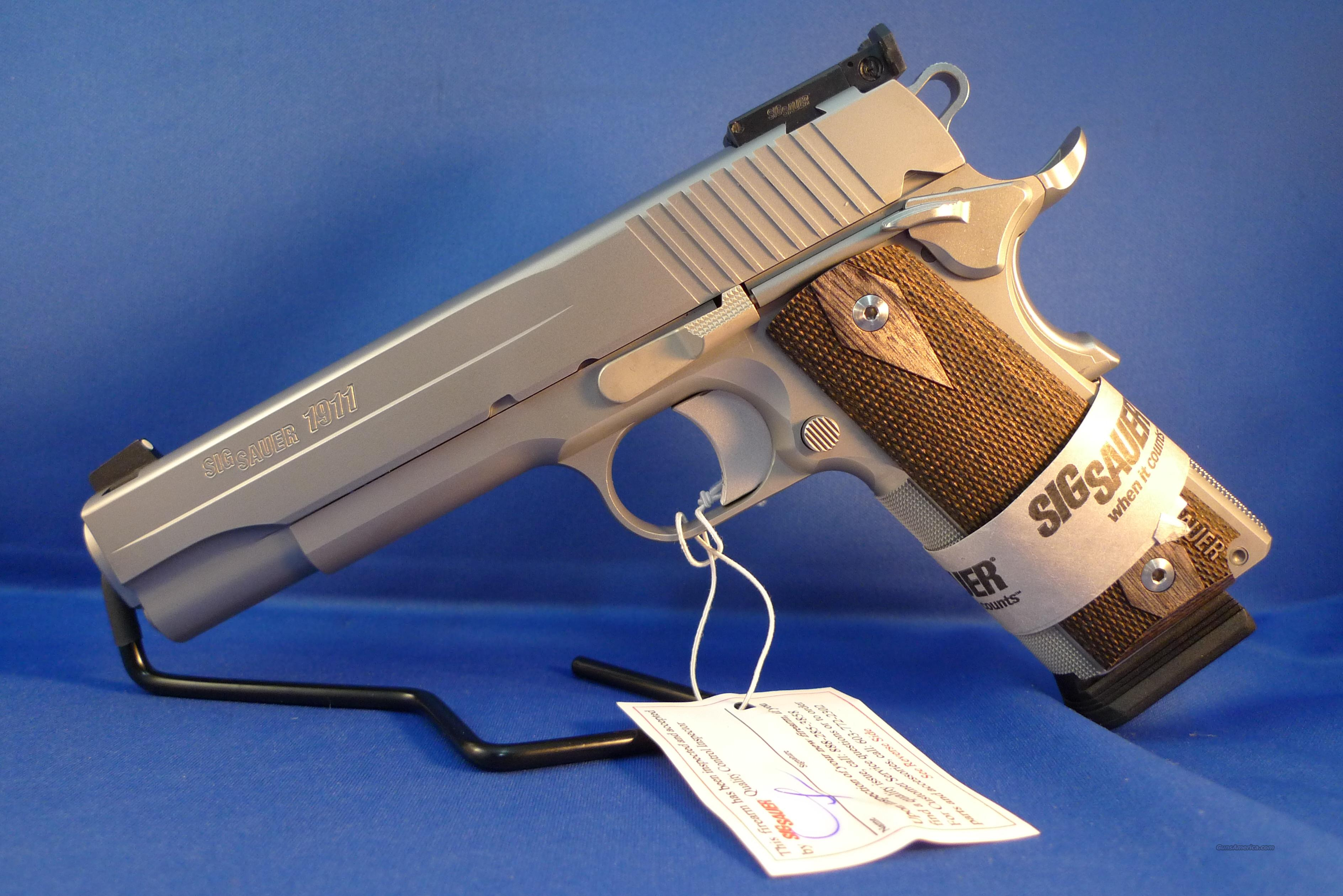 Sig Sauer 1911 Target Stainless .45ACP pistol  Guns > Pistols > Sig - Sauer/Sigarms Pistols > 1911
