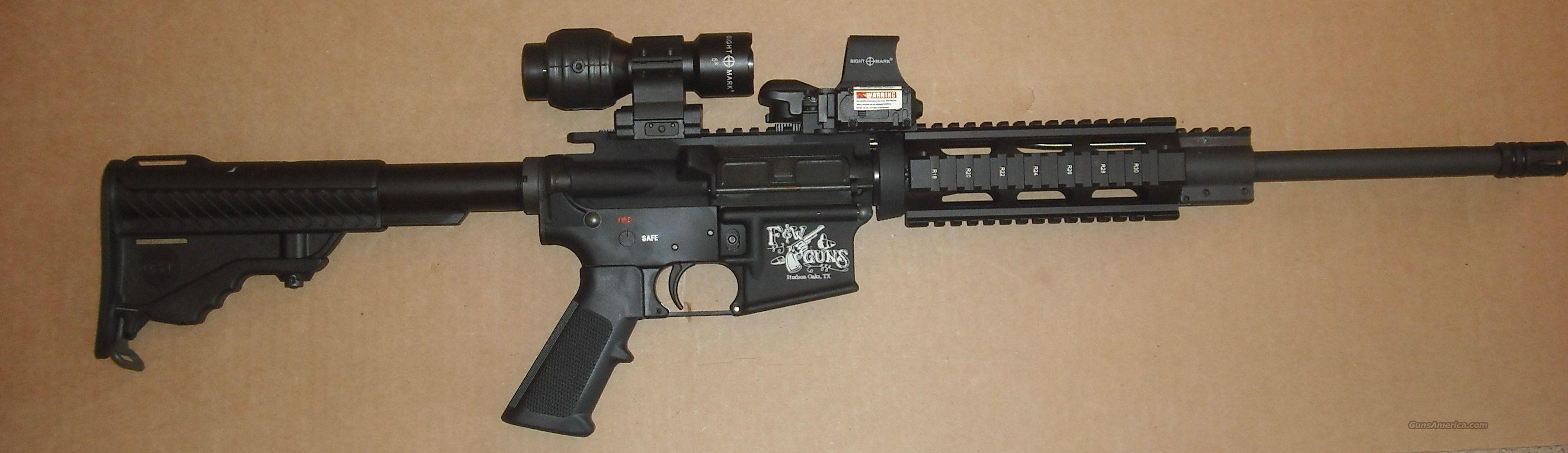 AR-15 with  Reflex  Sight and  5X Magnifier and Laser  Guns > Rifles > AR-15 Rifles - Small Manufacturers > Complete Rifle