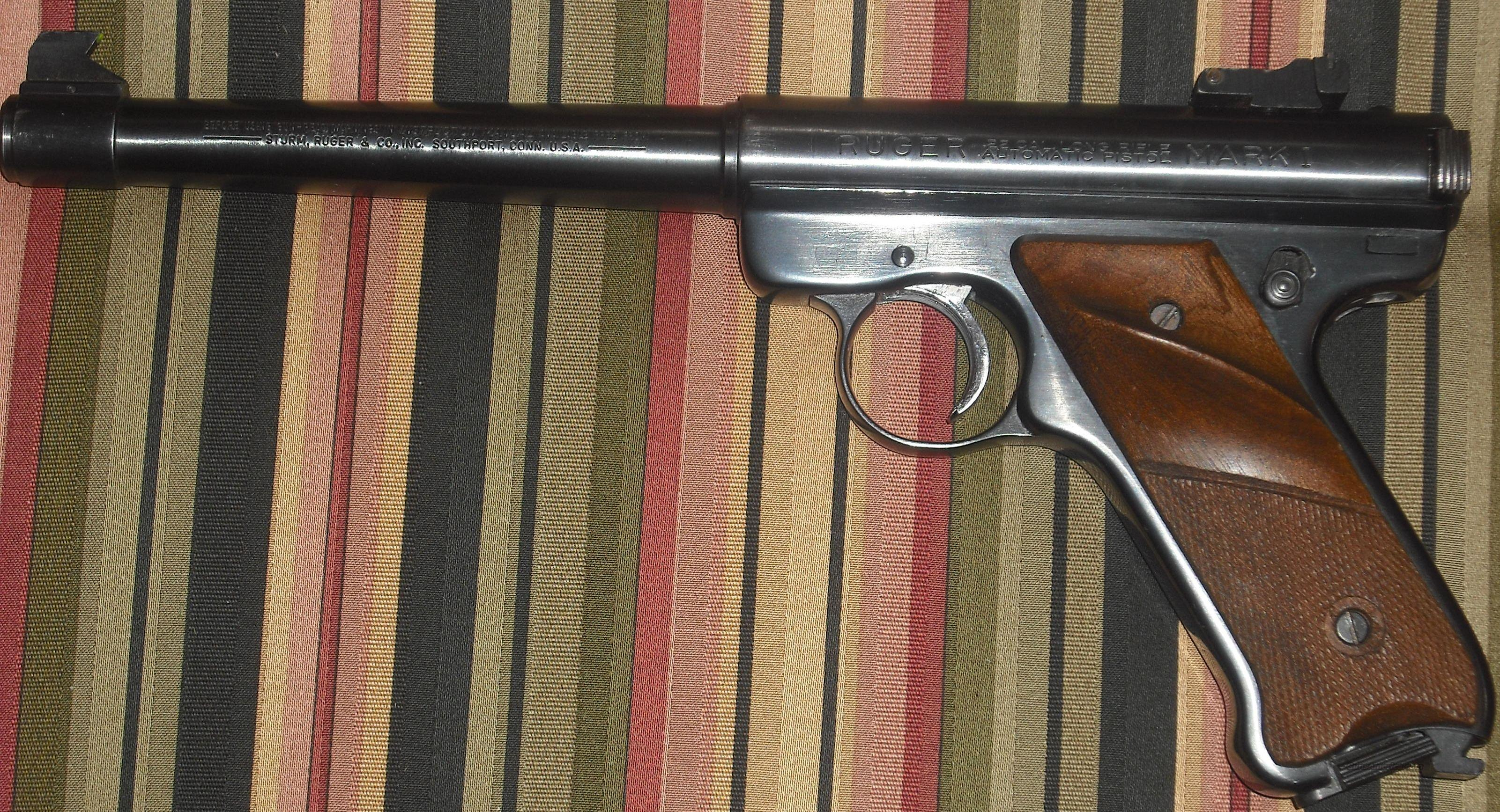 Ruger MK 1 with wood grips  Guns > Pistols > Ruger Semi-Auto Pistols > Mark I & II Family
