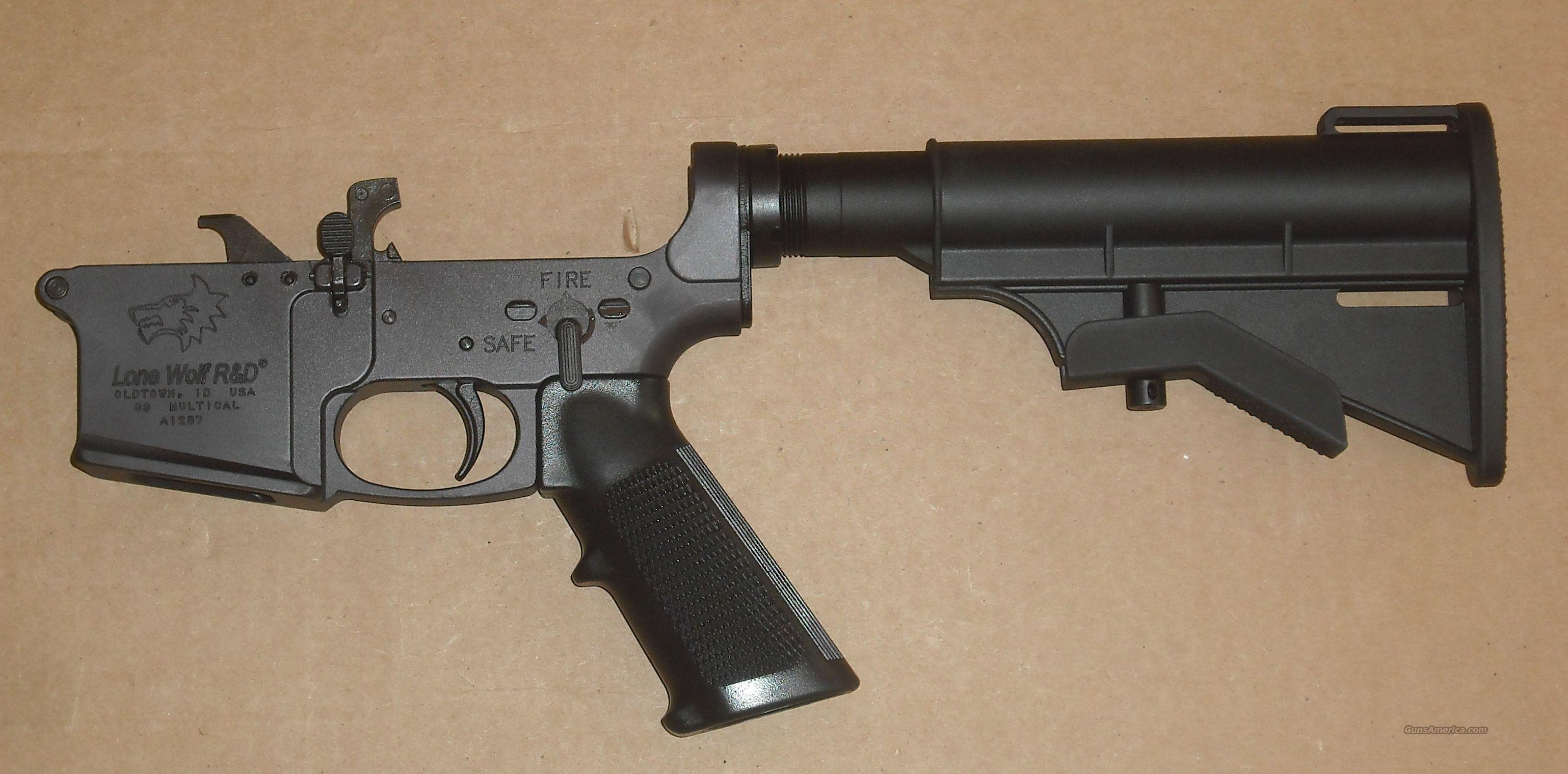 Lone Wolf AR-15 9mm lower/ Takes Glock mags  Guns > Rifles > AR-15 Rifles - Small Manufacturers > Lower Only