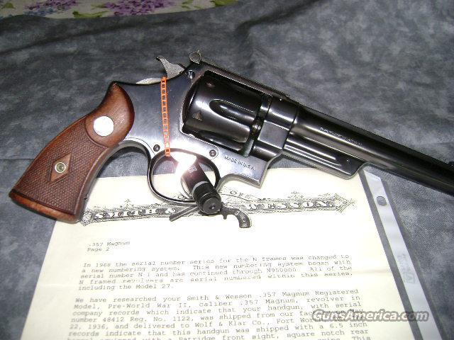 357 Registered Magnum  Guns > Pistols > Smith & Wesson Revolvers > Pre-1945