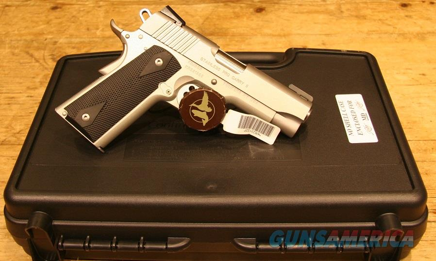 Kimber Stainless Pro Carry II .45acp w/ Upgraded Sights!  Guns > Pistols > Kimber of America Pistols