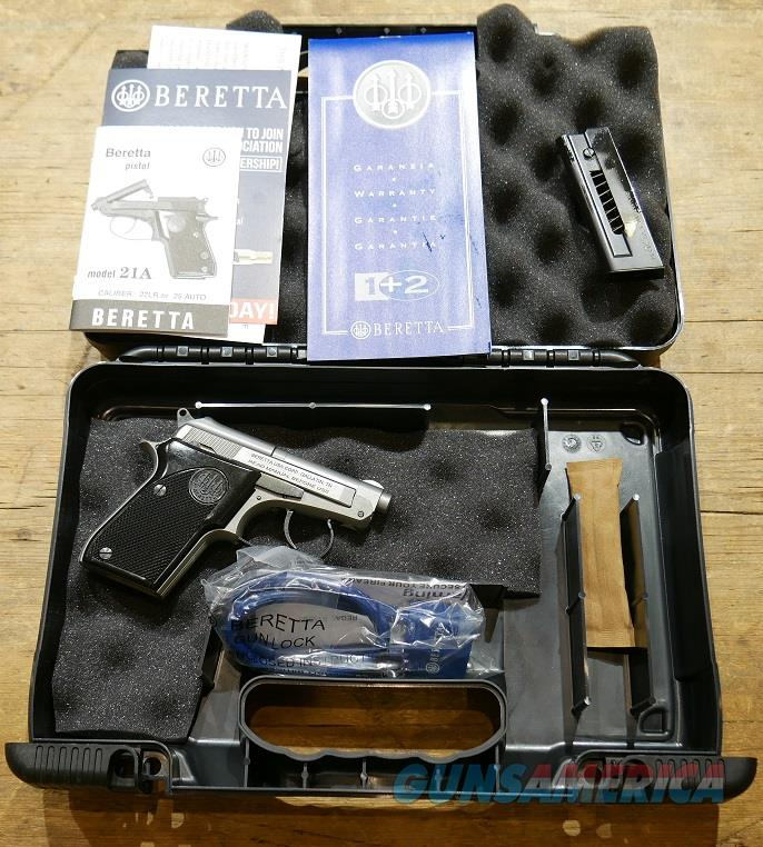 Beretta 21A Bobcat Inox .22LR  Guns > Pistols > Beretta Pistols > Small Caliber Tip Out