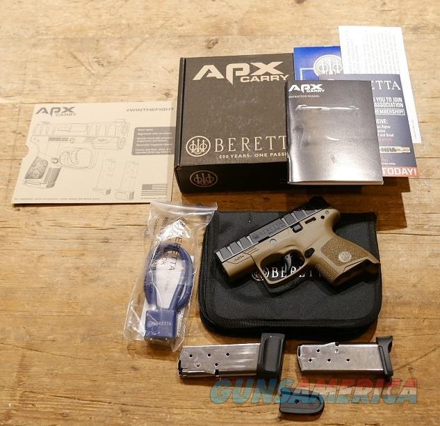 Beretta APX Carry FDE 9mm  Guns > Pistols > Beretta Pistols > Polymer Frame