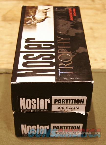 Nosler Trophy Grade .300 SAUM 165gr PT  Non-Guns > Ammunition