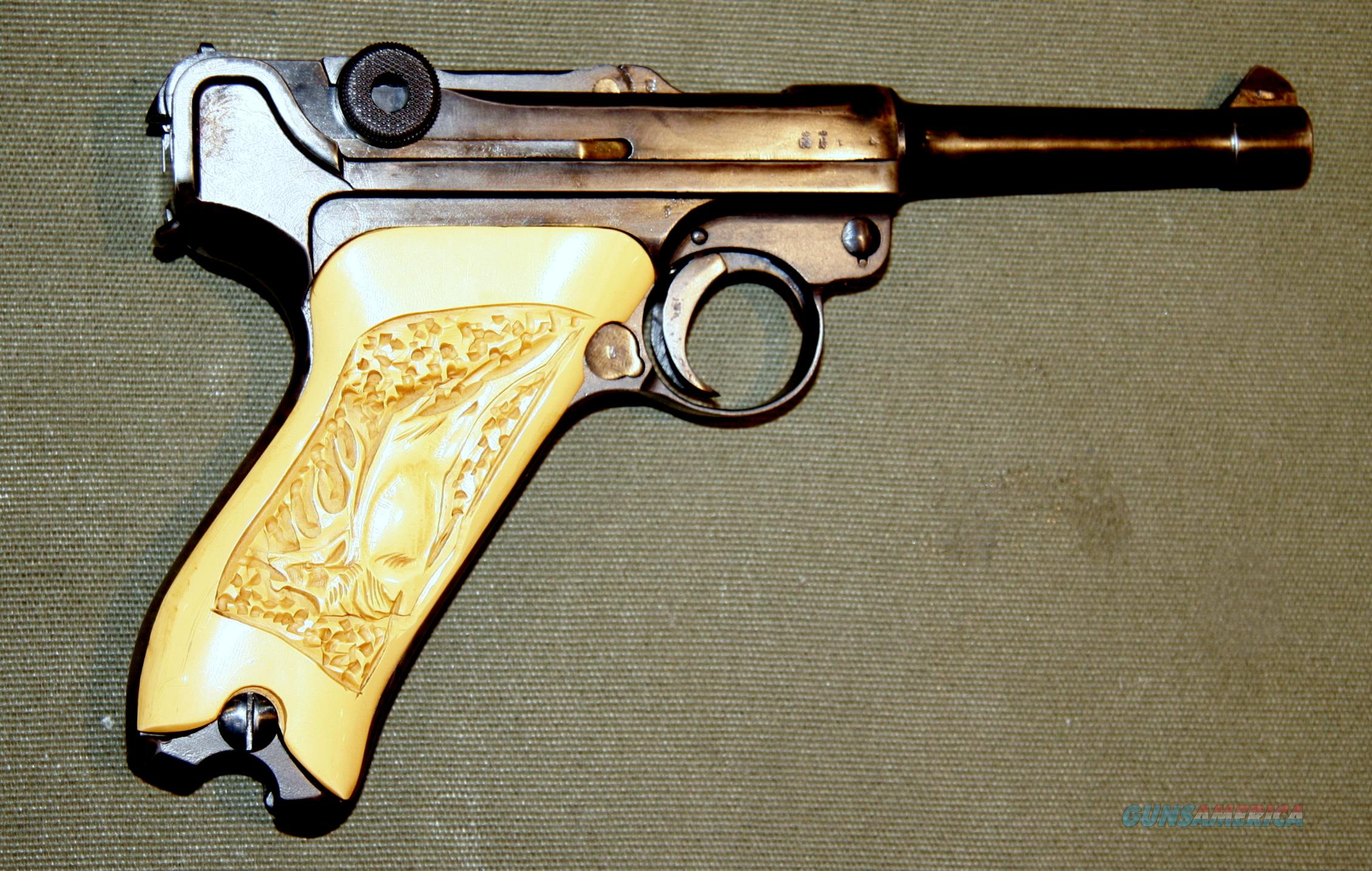 - Luger Pistol - Erfurt 1918 - Lots of Matching Numbers, incld Magazine  Guns > Pistols > Luger Pistols