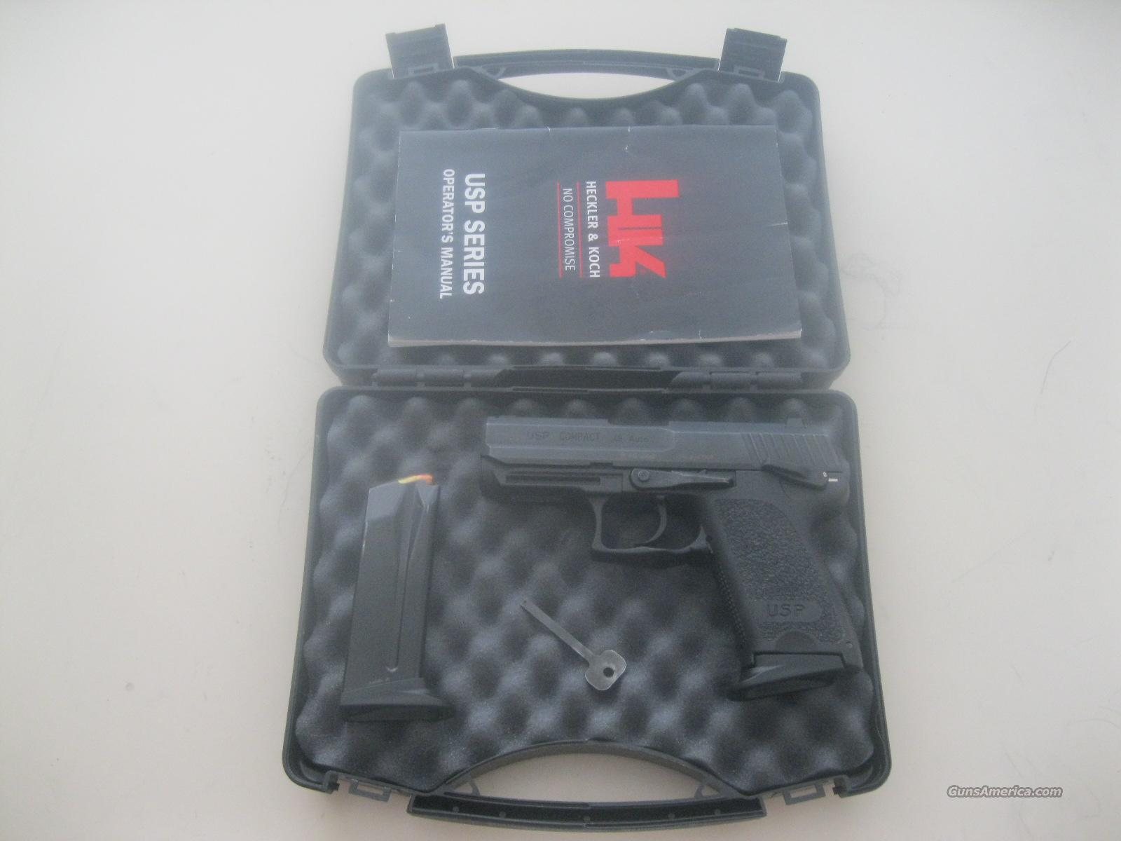 HK Compact USP .45 ACP with night sights, hard case, two 8r mags & manual  Guns > Pistols > Heckler & Koch Pistols > Polymer Frame