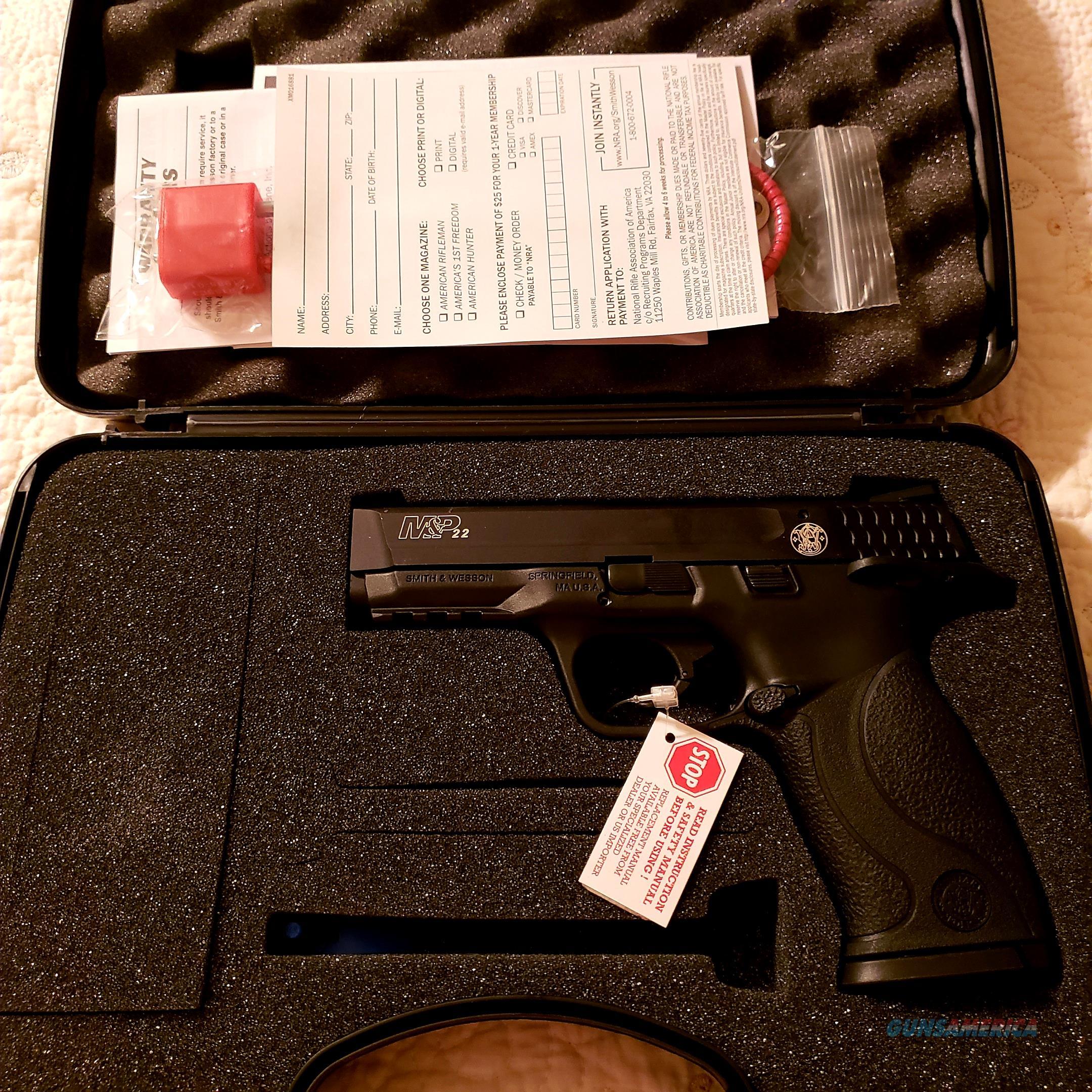 Smith & Wesson 222000 M&P 22 Pistol .22 LR 4.1in 12rd Black Brand New  Guns > Pistols > Smith & Wesson Pistols - Autos > .22 Autos