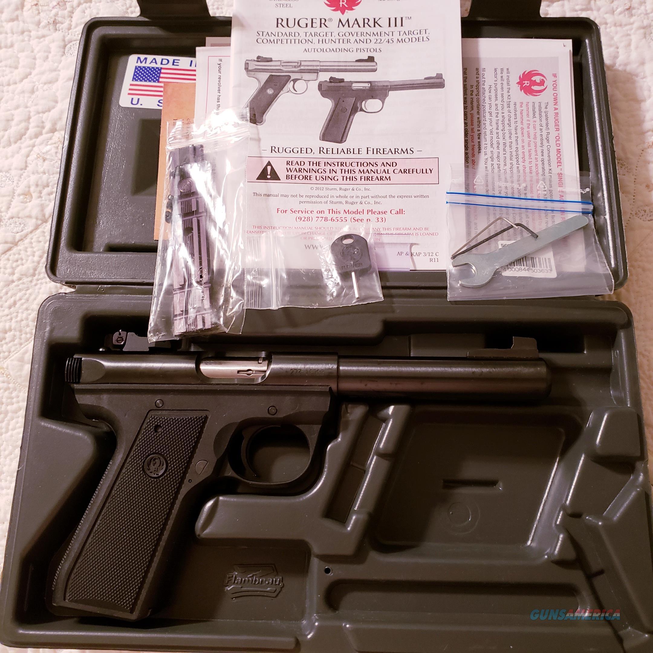 Ruger 10107 22/45 MKIII Pistol .22 LR 5.5in 10rd  Black Adjustable Sights  Guns > Pistols > Ruger Semi-Auto Pistols > 22/45