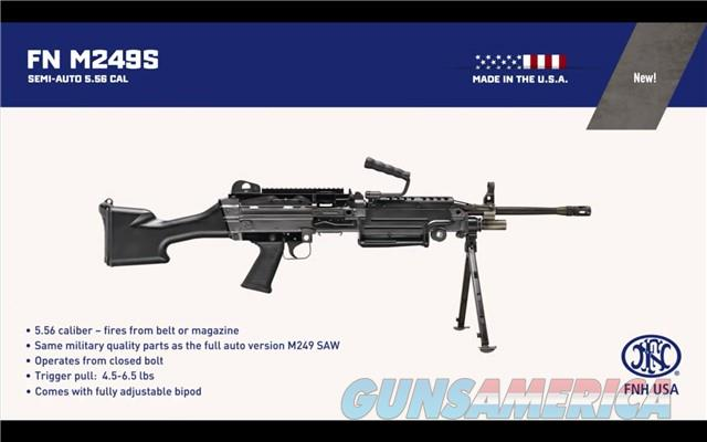 FNH M249S SAW 5.56 #4X OF 200 M 249 56435 M249 S COLLECTOR SERIES BELT FED OR AR15 MAG NOT FN SCAR  Guns > Rifles > FNH - Fabrique Nationale (FN) Rifles > Semi-auto > Other