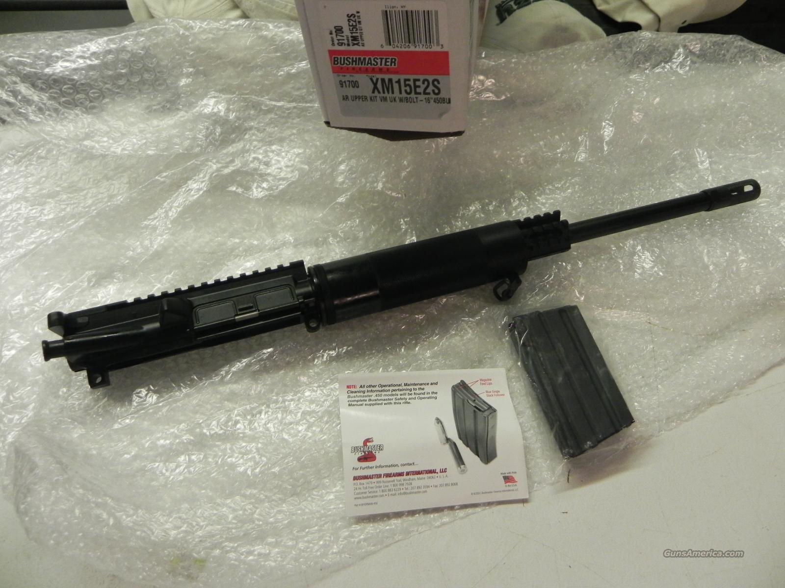 "BUSHMASTER 450 16"" UPPER NEW IN BOX W/ 5rd mag RARE!!  Non-Guns > Gun Parts > M16-AR15"