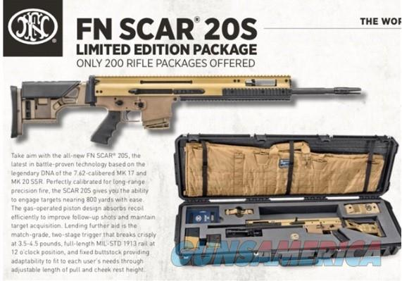 "FNH SCAR 20S 7.62X51 NATO FDE 20"" FN SCAR 308 NIB LIMITED EDITION 1 OF 200 (#44) COLLECTORS RIFLE  Guns > Rifles > FNH - Fabrique Nationale (FN) Rifles > Semi-auto > SCAR"