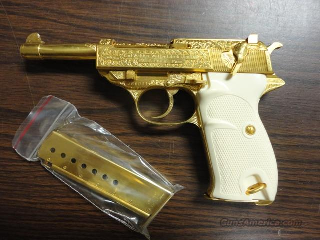 NIB Walther Gold P-38, Engraved, German Made, 9mm  Guns > Pistols > Walther Pistols > Post WWII > P38