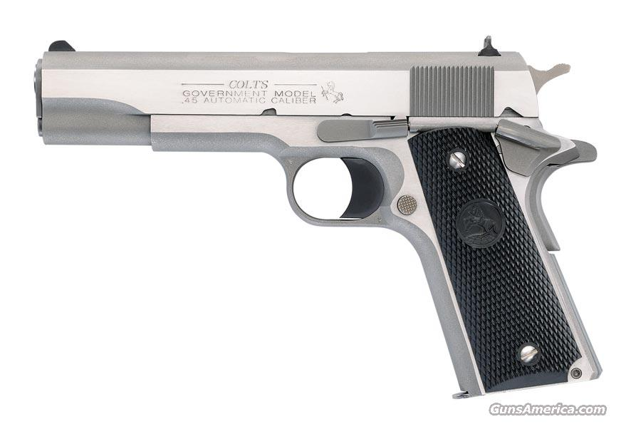 Colt O1091 Government, Stainless Steel, .45acp  Guns > Pistols > Colt Automatic Pistols (1911 & Var)