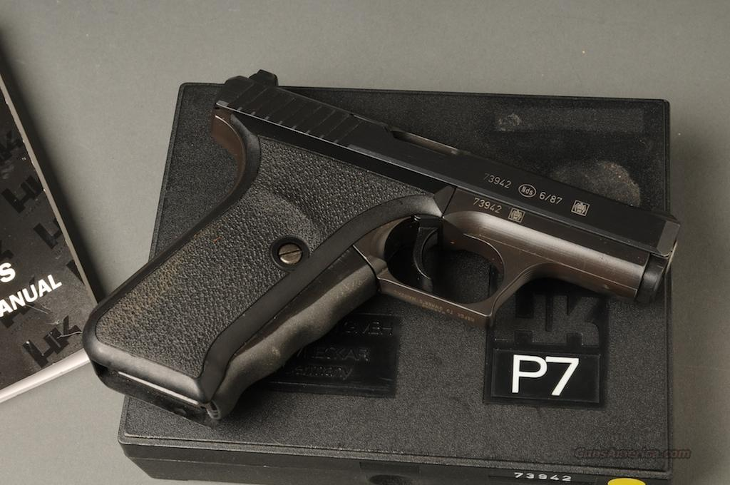 Heckler & Koch P7 PSP 9mm squeeze cocker  Guns > Pistols > Heckler & Koch Pistols > SteelFrame