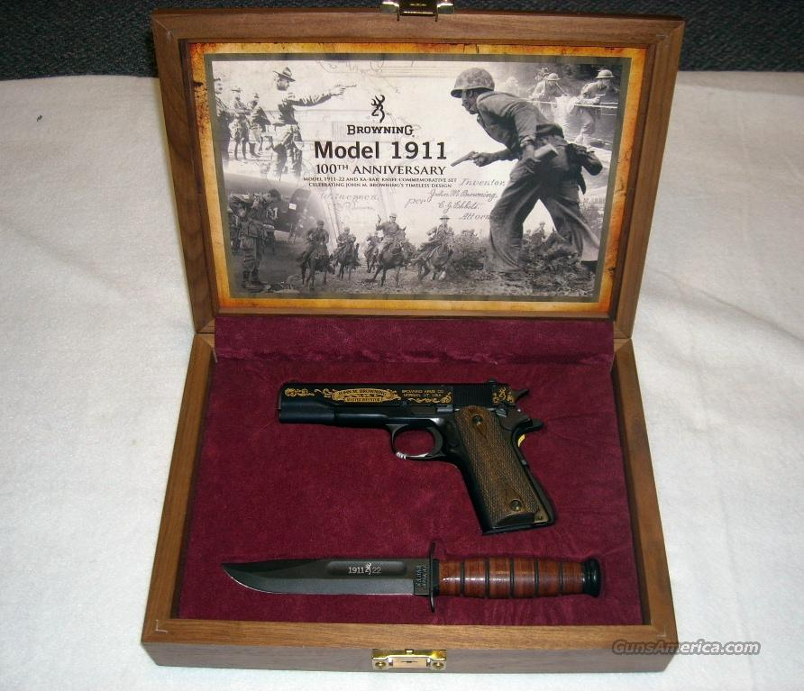 1911 Commemorative Case, Knife, Holster   Guns > Pistols > Browning Pistols > Other Autos