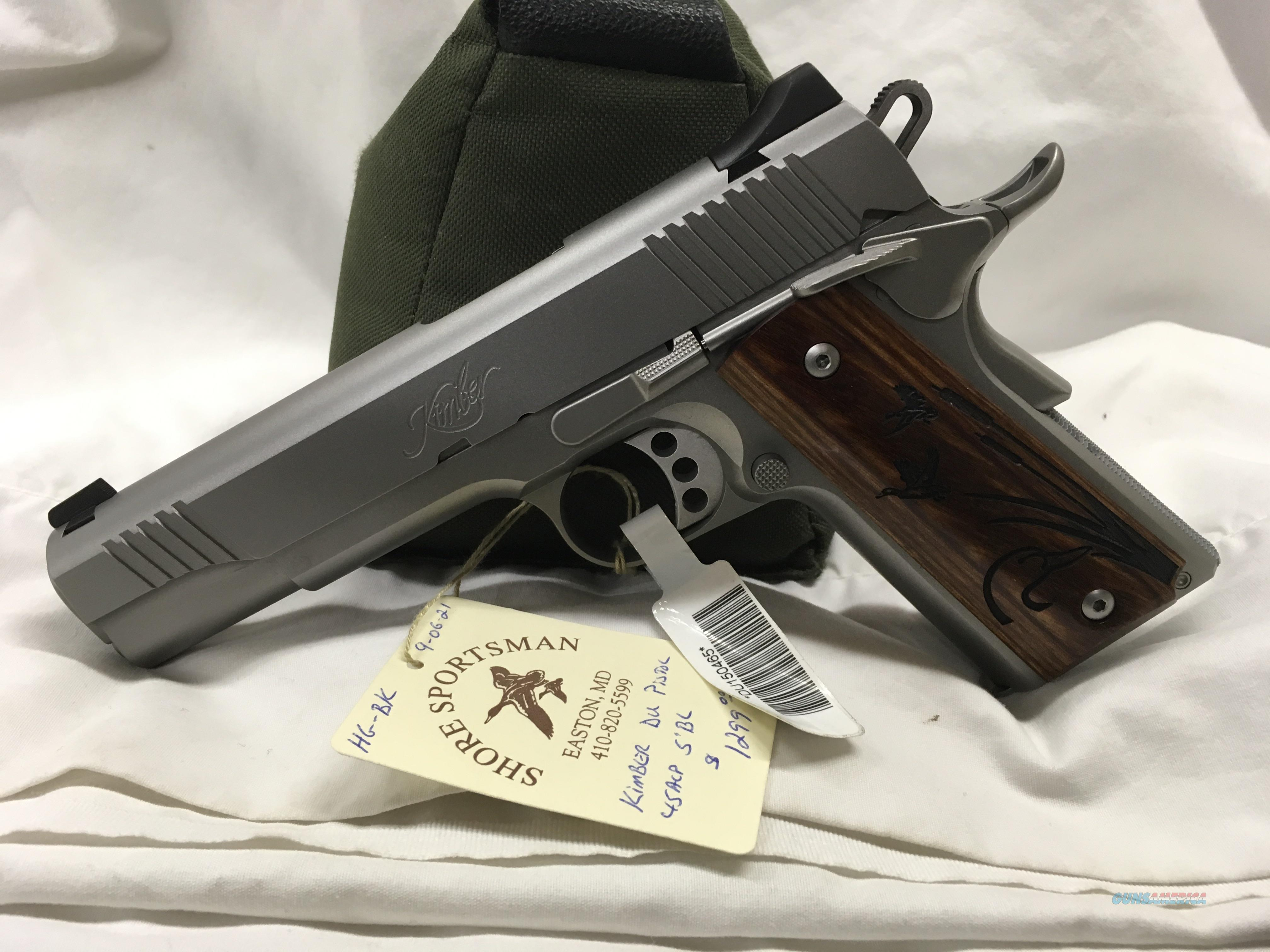 Kimber Stainless 2 Ducks Unlimited Edition .45acp  Guns > Pistols > Kimber of America Pistols