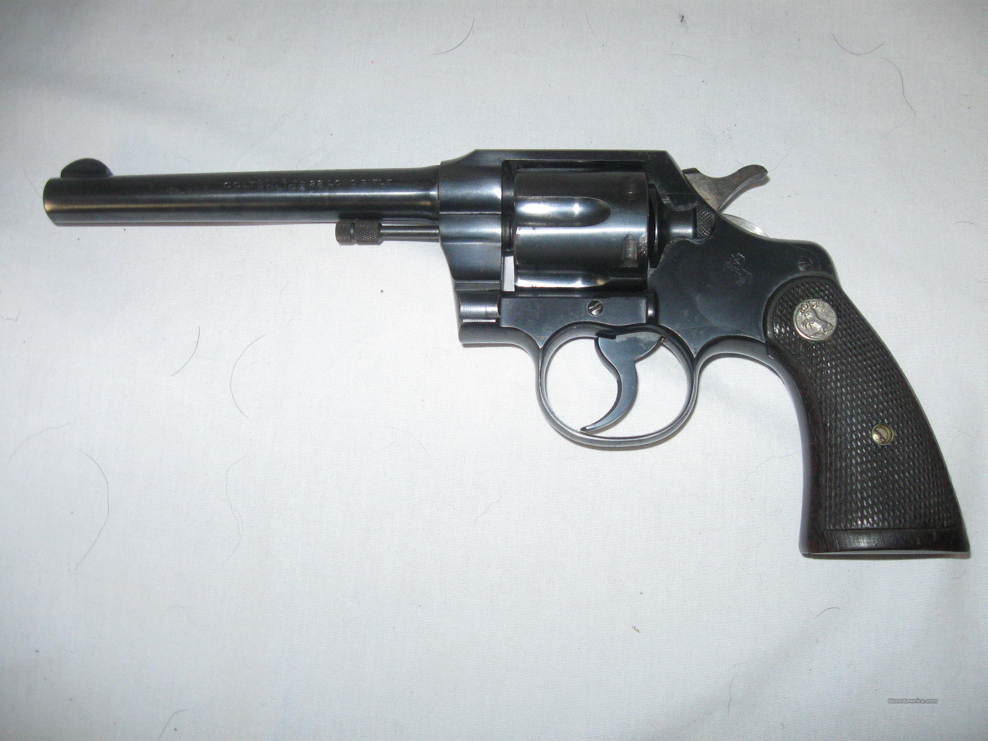 Colt Official Police Revolver in 22 LR  Guns > Pistols > Colt Double Action Revolvers- Pre-1945