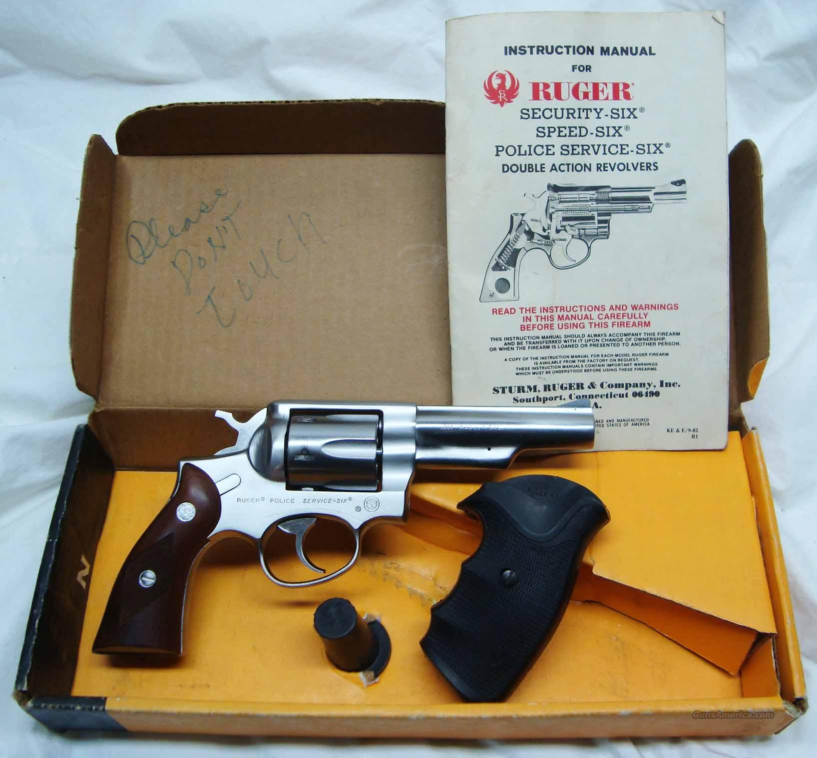 RUGER Police Service Six .357 Mag w/ Box Speed Grips  Guns > Pistols > Ruger Double Action Revolver > Security Six Type