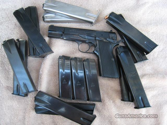 FN Hi Power, Rare SFS, Minty w/Xtras  Guns > Pistols > FNH - Fabrique Nationale (FN) Pistols > High Power Type