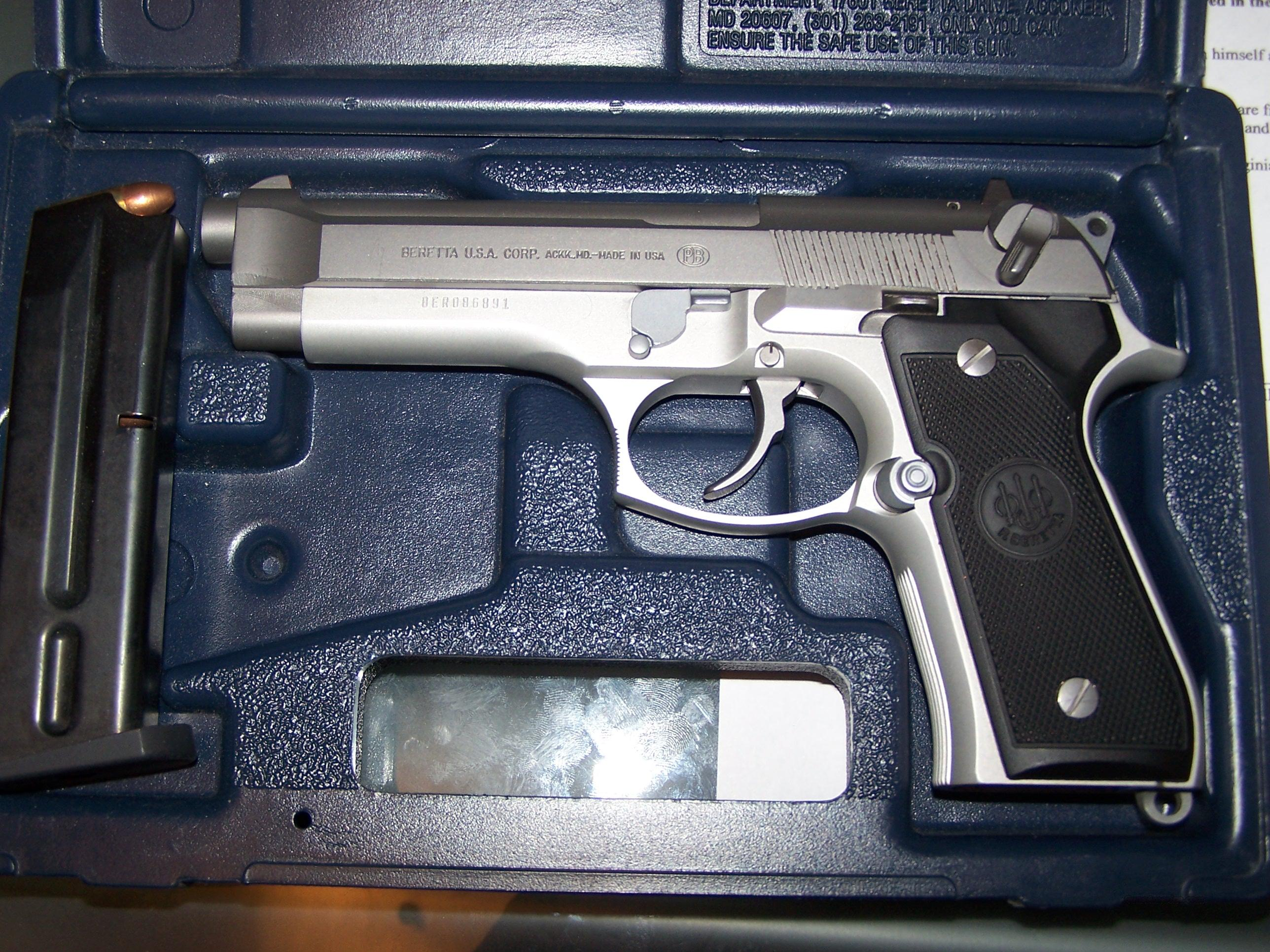 Beretta 92 FS Stainless Steel  Guns > Pistols > Beretta Pistols > Model 92 Series