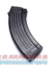 Bulgarian AK-47 7.62x39 30 Round Magazine Steel Ribbed Style Back Black   Non-Guns > Magazines & Clips > Rifle Magazines > AK Family