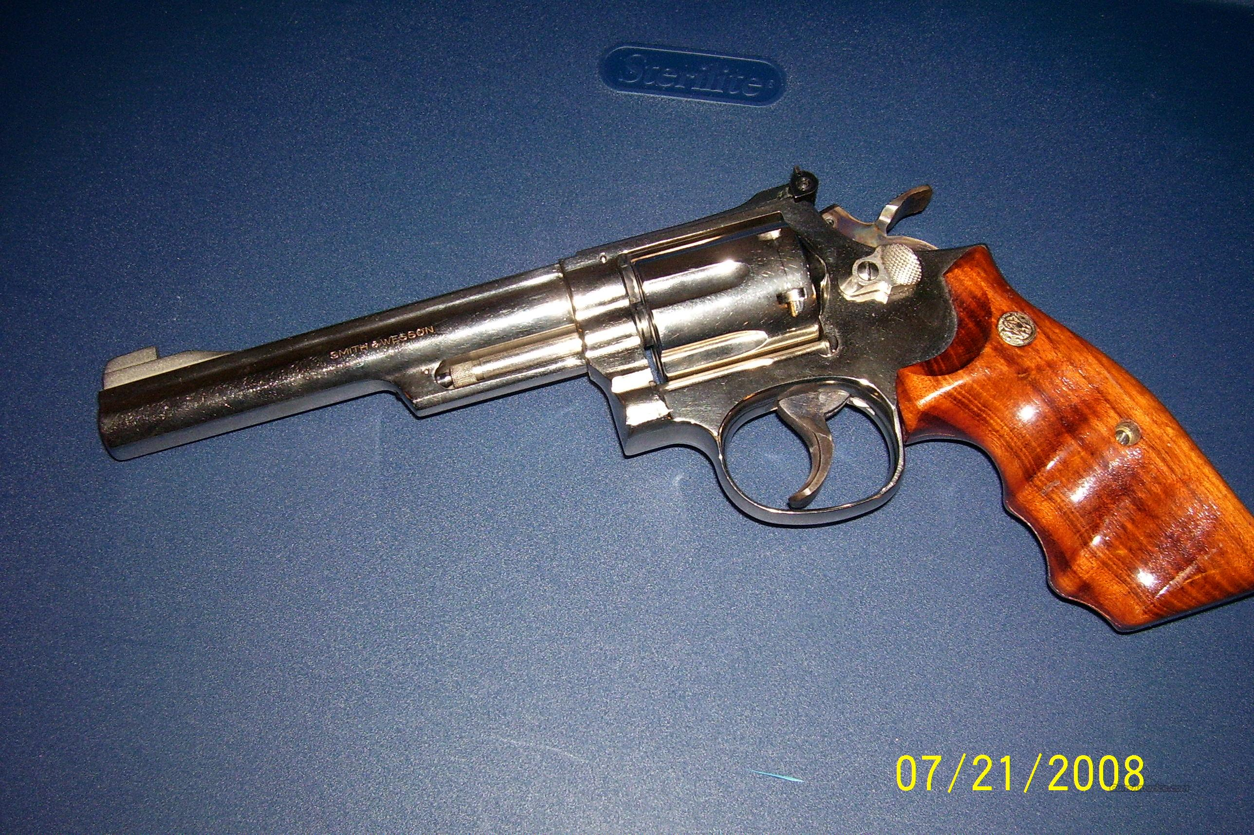 Smith and Wesson Model 19-4 Nickel w/ Factory Combat Grips  Guns > Pistols > Smith & Wesson Revolvers > Full Frame Revolver
