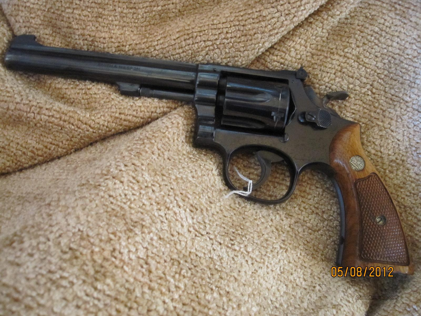 "S&W Model 17-3(K-22 Masterpiece )22 LR Blue with 6"" pinned BBL Target Trigger Target Hammer   Guns > Pistols > Smith & Wesson Revolvers > Full Frame Revolver"