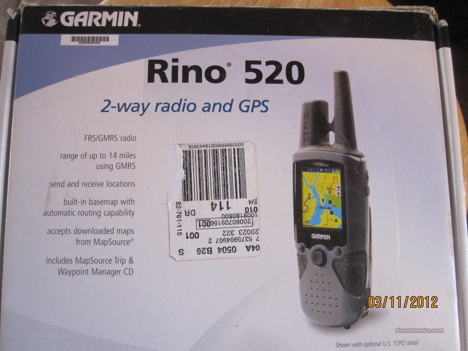 Garmin  Rino 520 GPS 2- Way radio and GPS Used   Non-Guns > Electronics