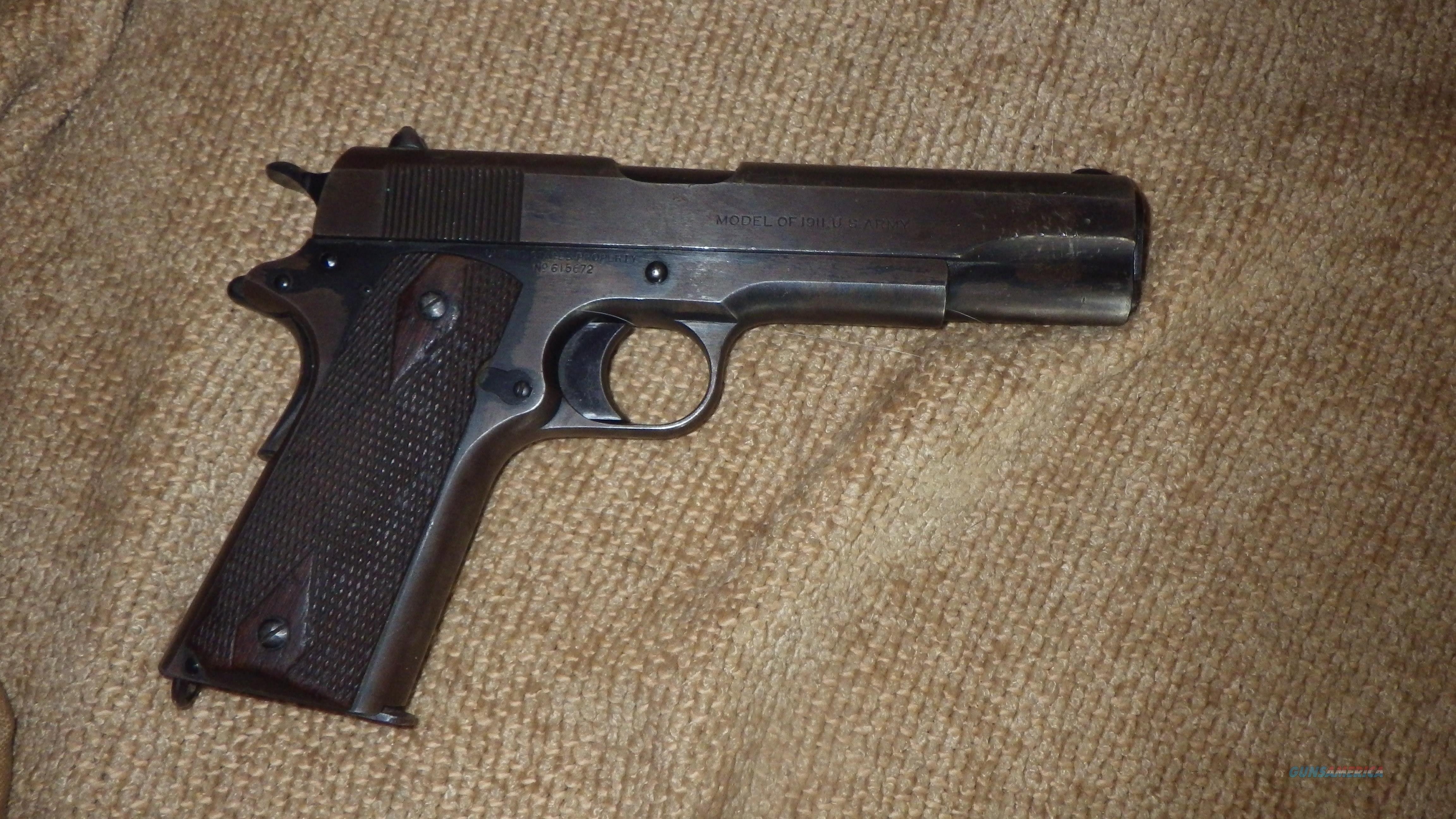 Colt Military WW1 1911 (1919 mfg.) Stamped United States Property / Model of 1911 U.S. Army -  Guns > Pistols > Colt Automatic Pistols (1911 & Var)