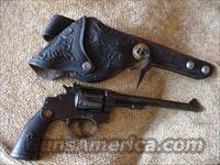 Smith And Wesson  22/32 Hand Ejector  Heavy Frame Target Caliber .22 Long Rifle.With Holster  Guns > Pistols > Smith & Wesson Revolvers > Pre-1945