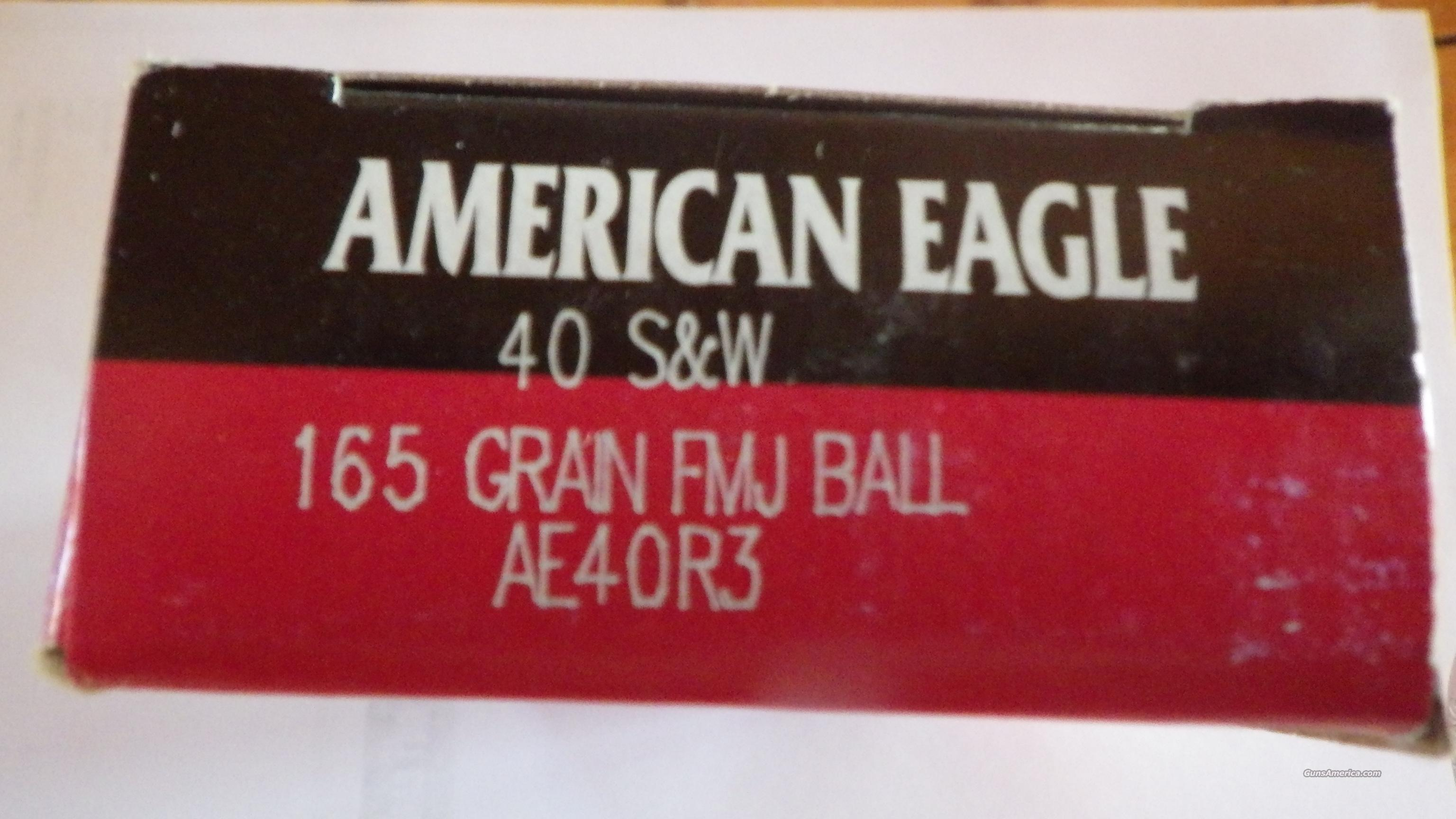 350 rds 40 S&W Ammo (7 Boxes) American Eagle 165 FMJ  Non-Guns > Ammunition