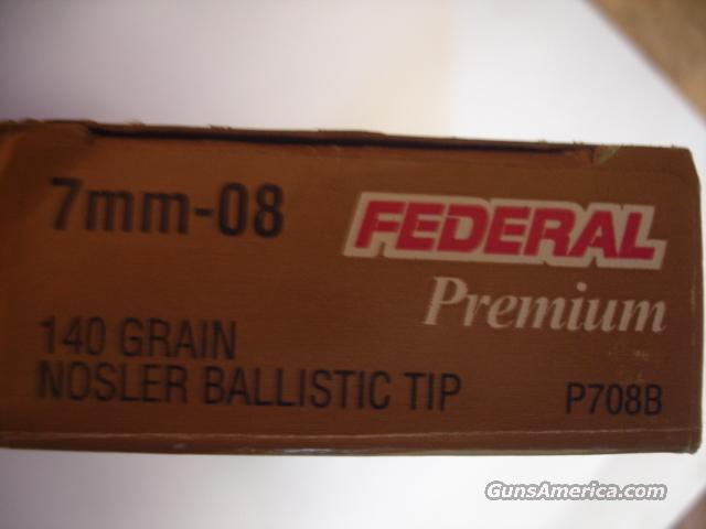 30 RDs Federal Premium 7MM08 Ammo 140 Ballistic tip  Non-Guns > Ammunition