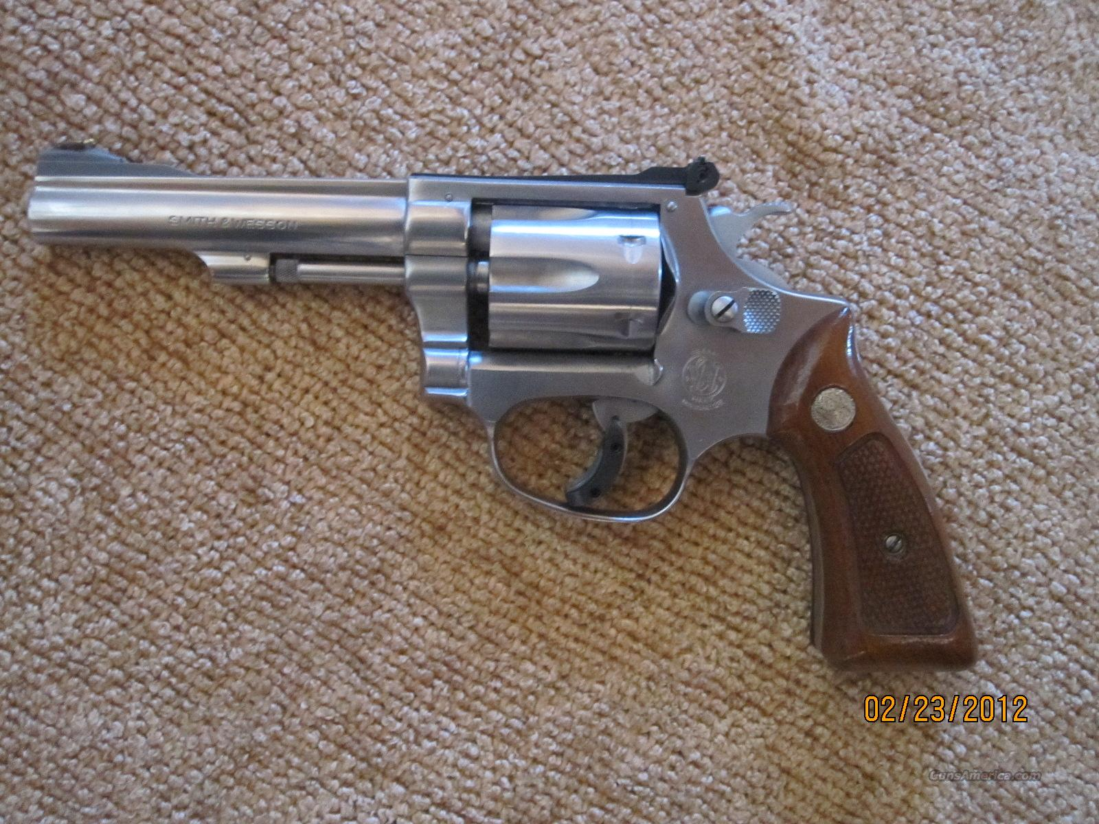 Smith And Wesson Model 63 Stainless Steel 22 Caliber  6 Shot Revolver Like new   Guns > Pistols > Smith & Wesson Revolvers > Full Frame Revolver