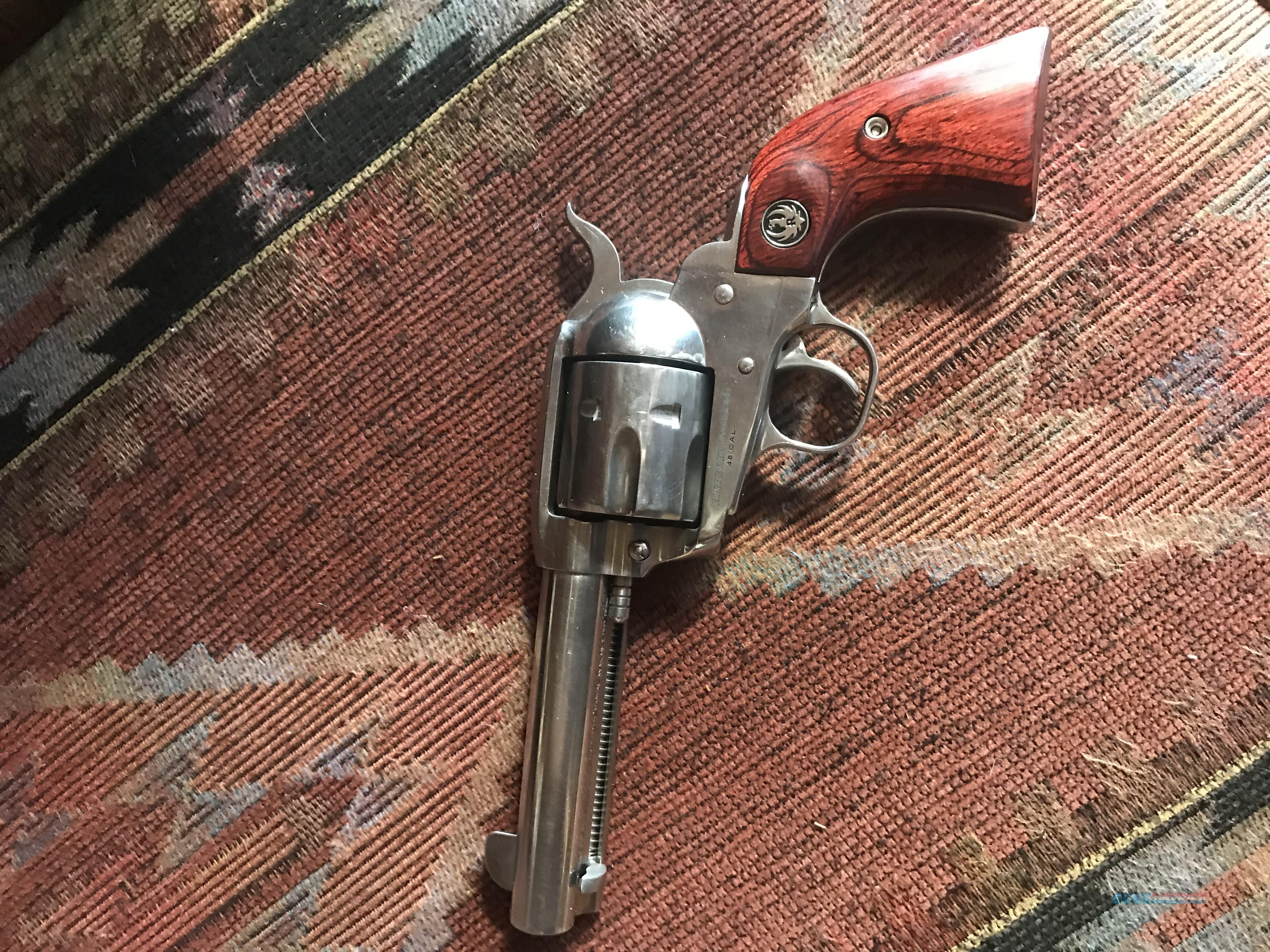 """Ruger Stainless Valquero 45LC 4.62""""  MFG # 5105  Guns > Pistols > Ruger Single Action Revolvers > Cowboy Action"""