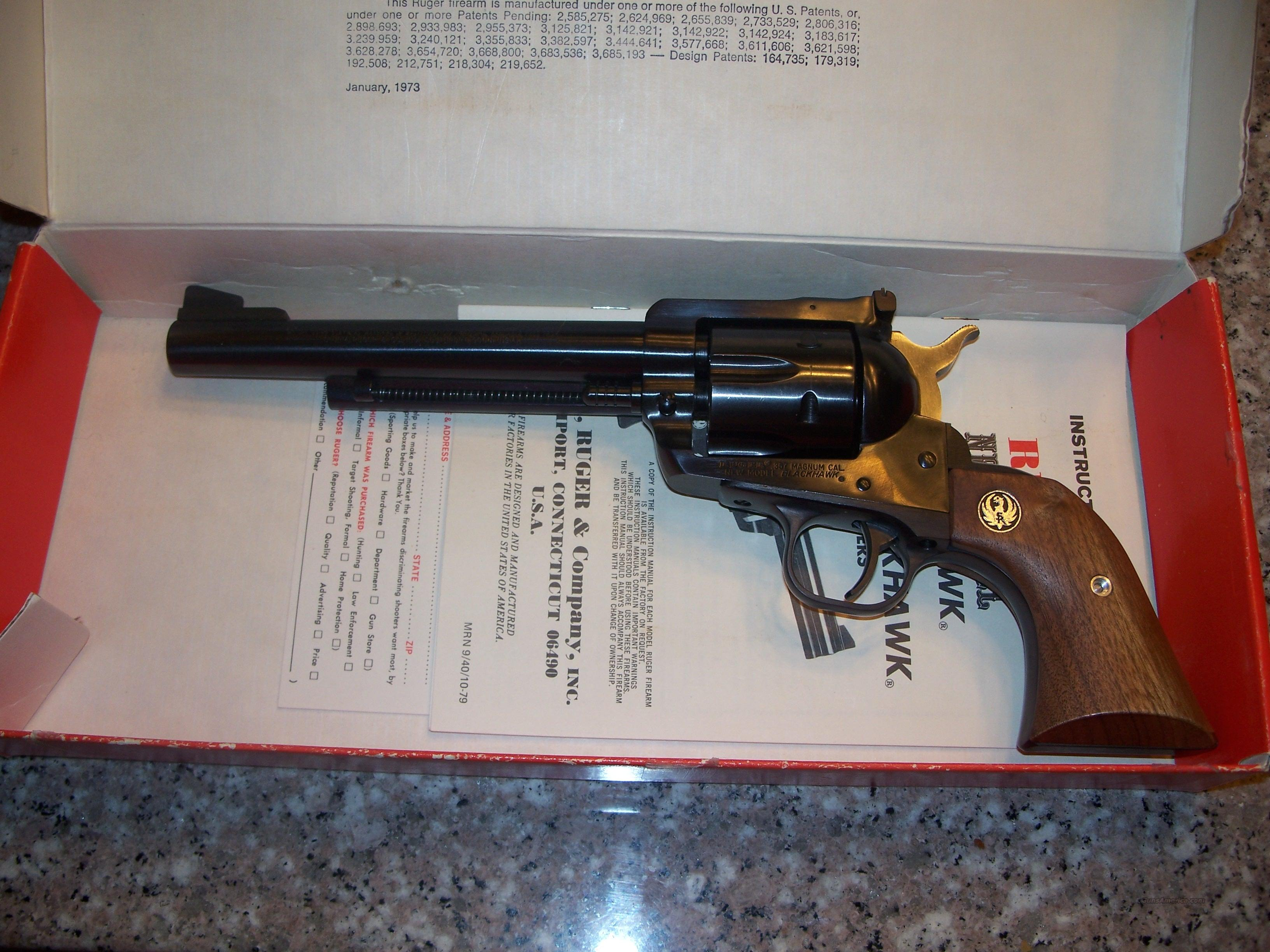 Ruger New Model Blackhawk .357 Magnum  Guns > Pistols > Ruger Single Action Revolvers > Blackhawk Type