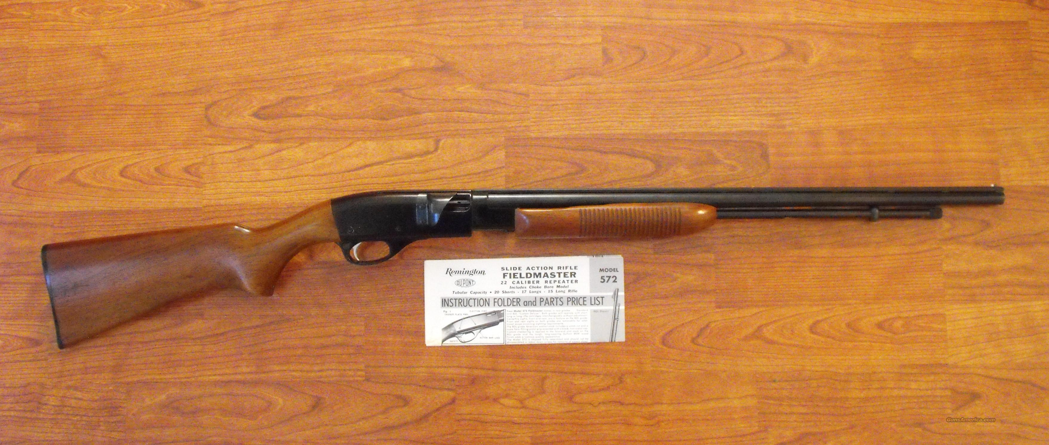 Remington Model 572-SB  Guns > Rifles > Remington Rifles - Modern > .22 Rimfire Models