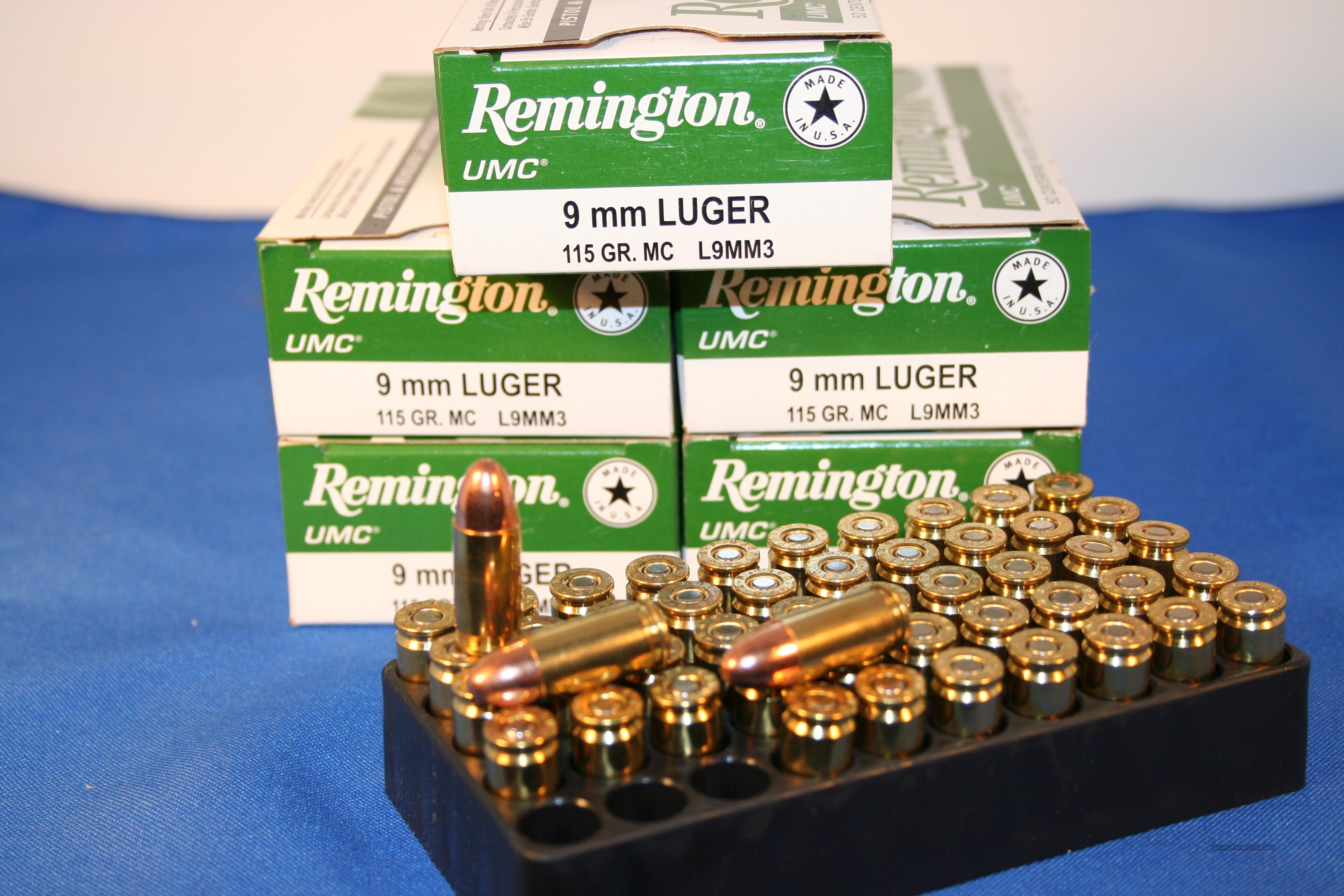 REMINGTON UMC 9MM LUGER   Non-Guns > Ammunition
