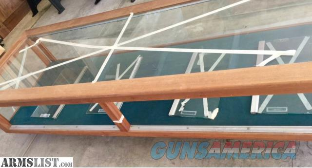 Vintage Wooden Display Case with glass on 5 sides!  Non-Guns > Gun Displays/Racks