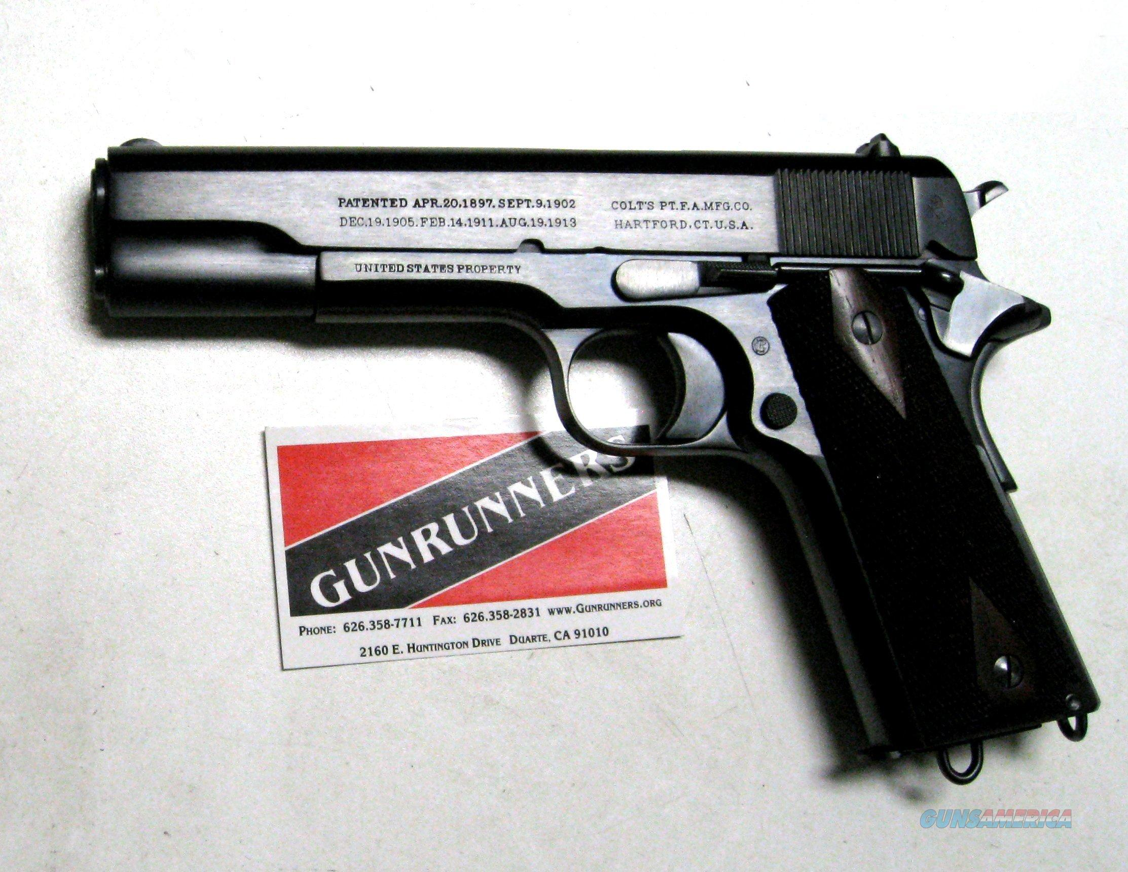 Colt 1911 .45 ACP, 1914 production, refinished by Turnbull  Guns > Pistols > Colt Automatic Pistols (1911 & Var)