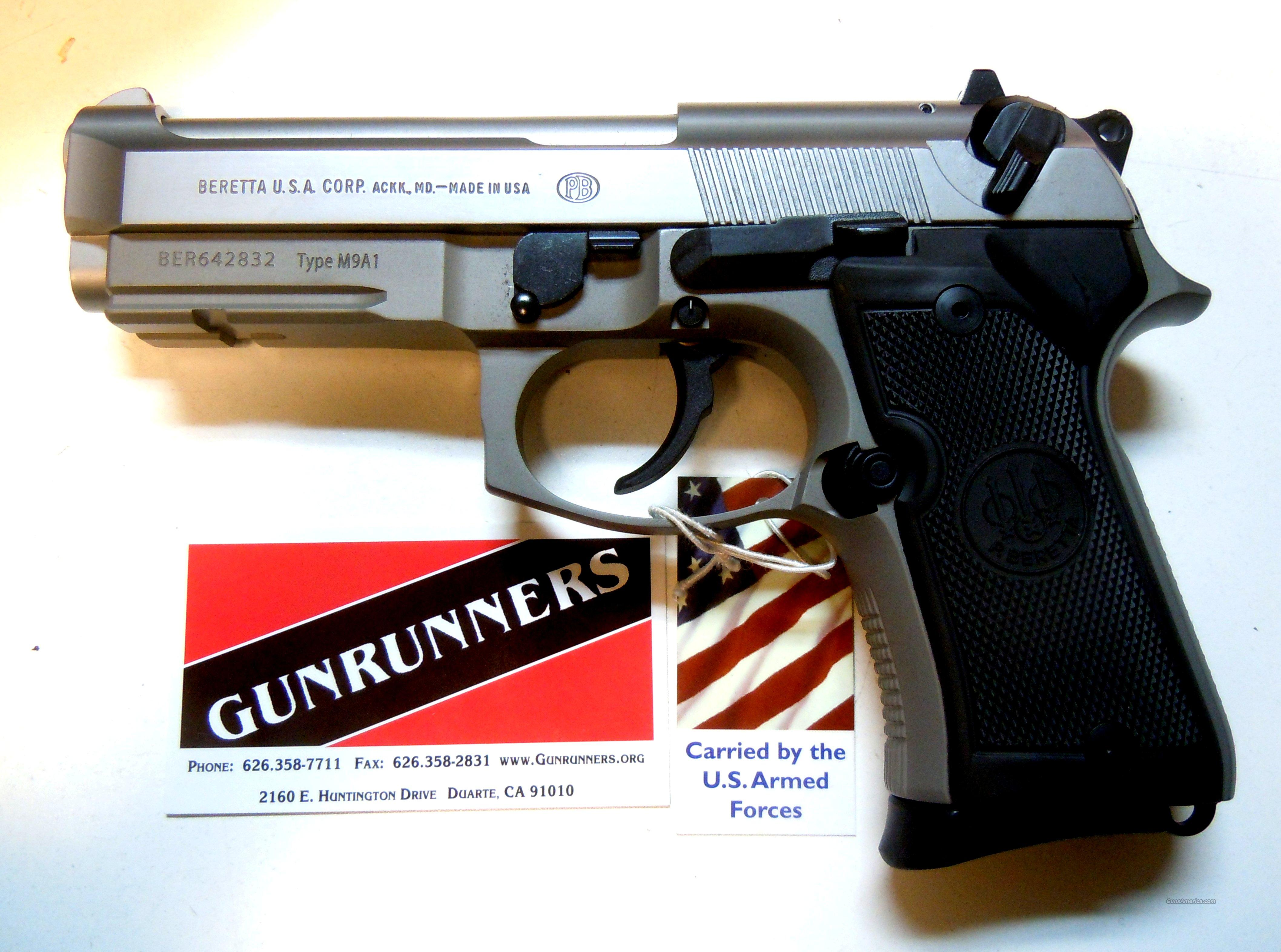 Beretta 92FS Compact L, Type M9A1 w/Rail,  INOX,  9mm,  NEW GUN for 2013!  Guns > Pistols > Beretta Pistols > Model 92 Series