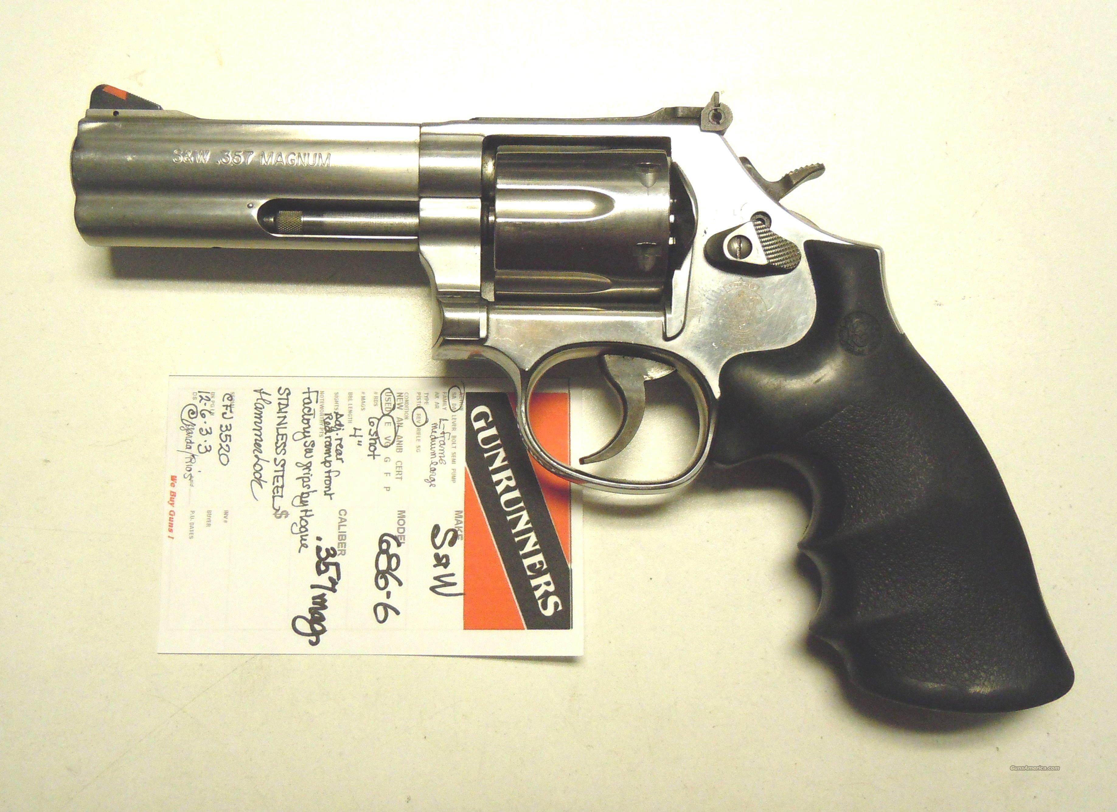 "Smith & Wesson 686-6 4"" .357 Magnum  Guns > Pistols > Smith & Wesson Revolvers > Full Frame Revolver"