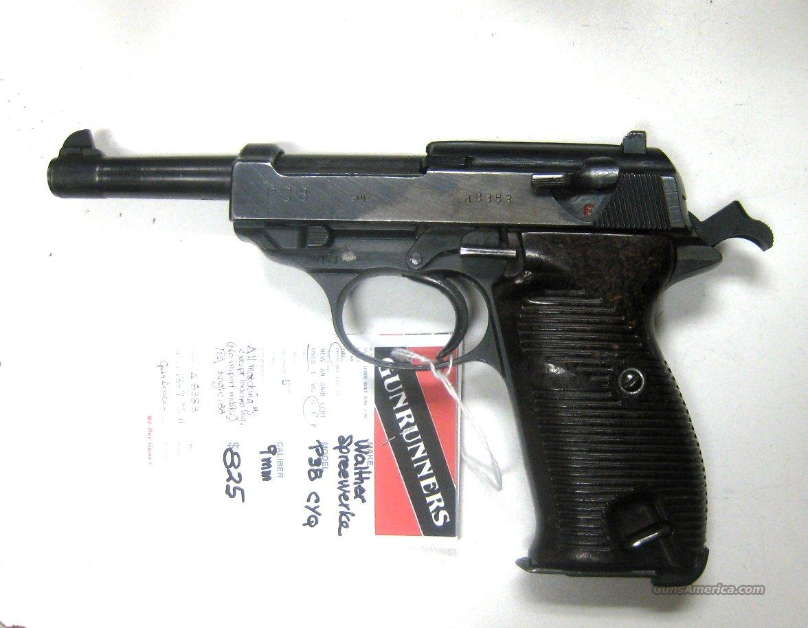 "Walther Spreewerke P38 cyq 5"" 9 MM  Matching #s  Guns > Pistols > Walther Pistols > Pre-1945 > P-38"