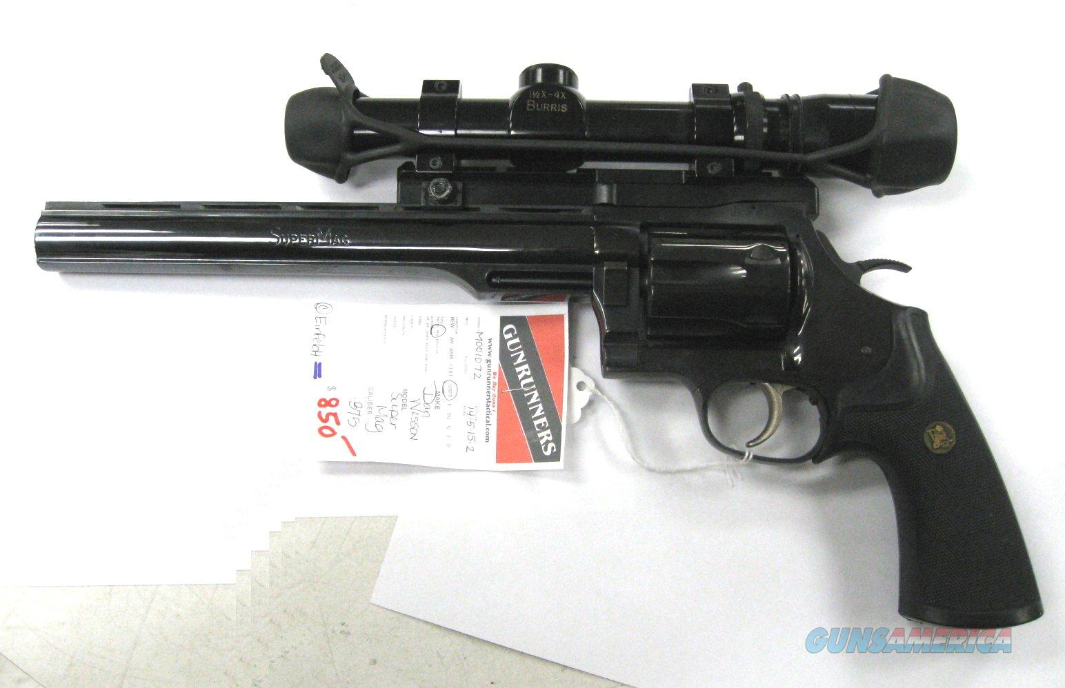 "Dan Wesson .375 SuperMag with Scope, 9 1/2"" barrel   Guns > Pistols > Dan Wesson Pistols/Revolvers > Revolvers"