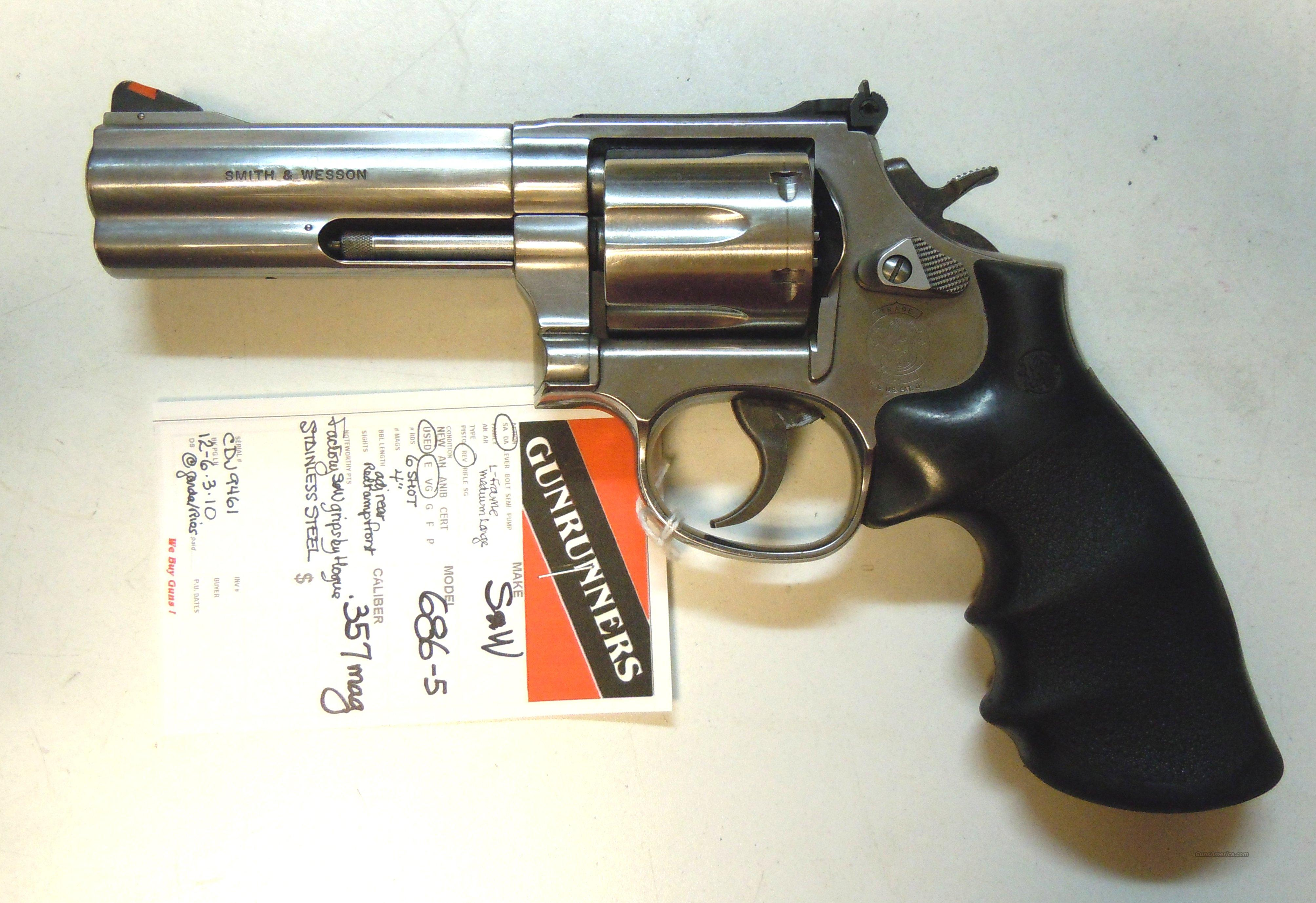"Smith & Wesson 686-5 4"" .357 Magnum  Guns > Pistols > Smith & Wesson Revolvers > Full Frame Revolver"