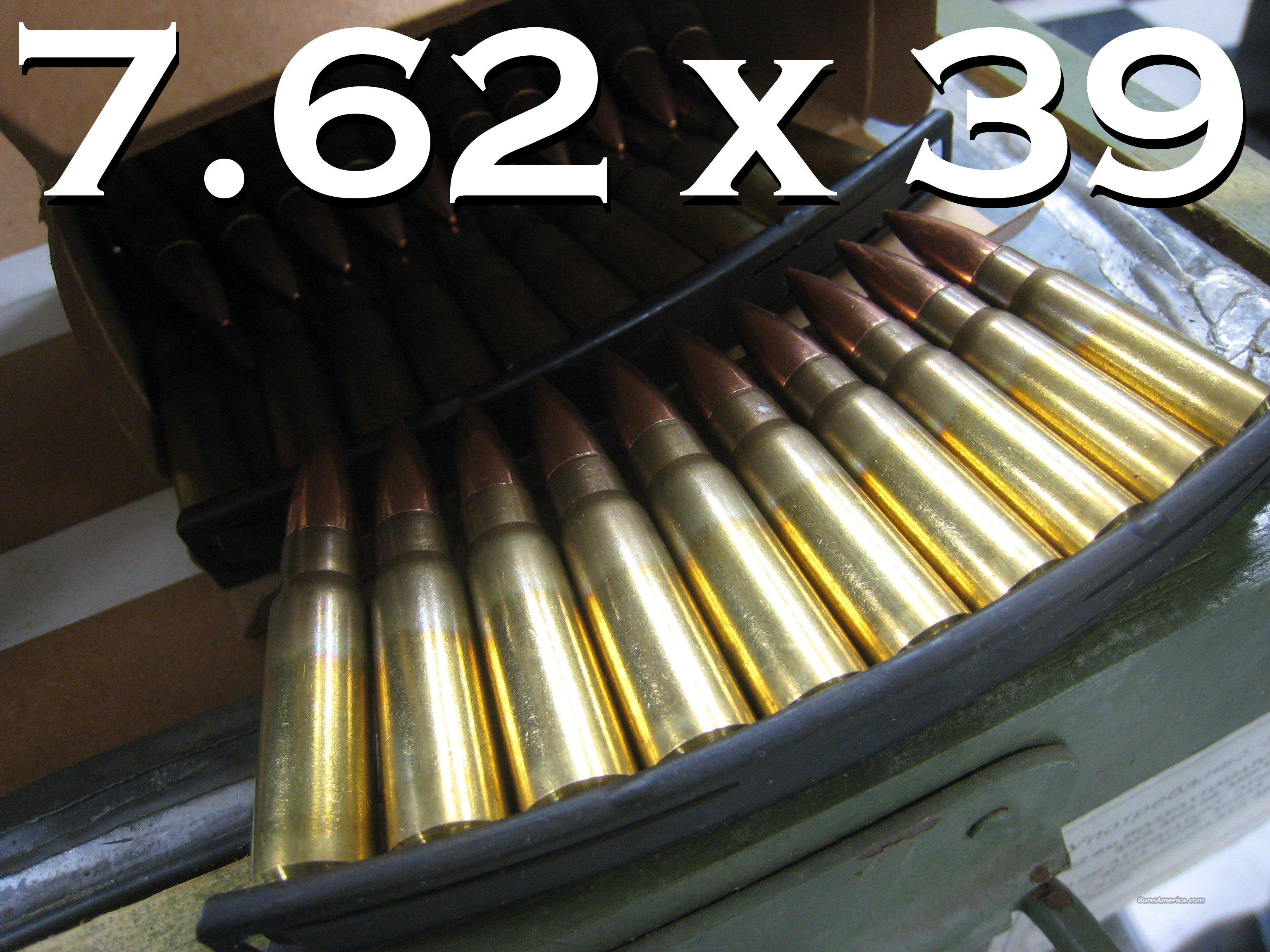 7.62x39 Yugo Military on Stripper Clips - BY THE CASE - AVAILABLE NOW!  Non-Guns > Ammunition